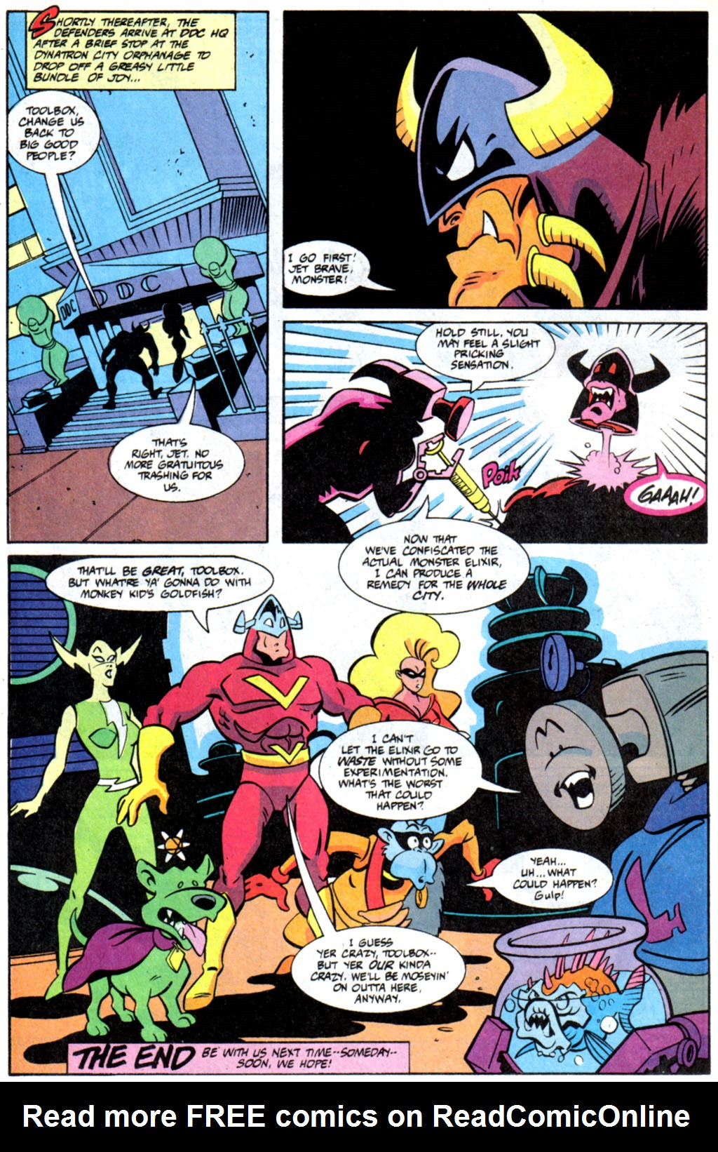 Read online Defenders of Dynatron City comic -  Issue #6 - 23