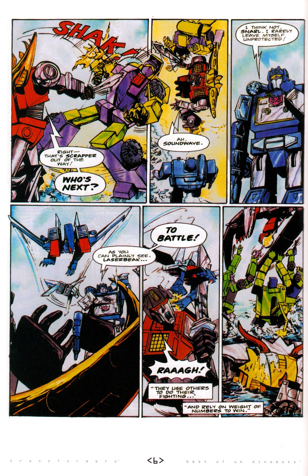 Read online The Transformers: Best of UK: Dinobots comic -  Issue #6 - 9