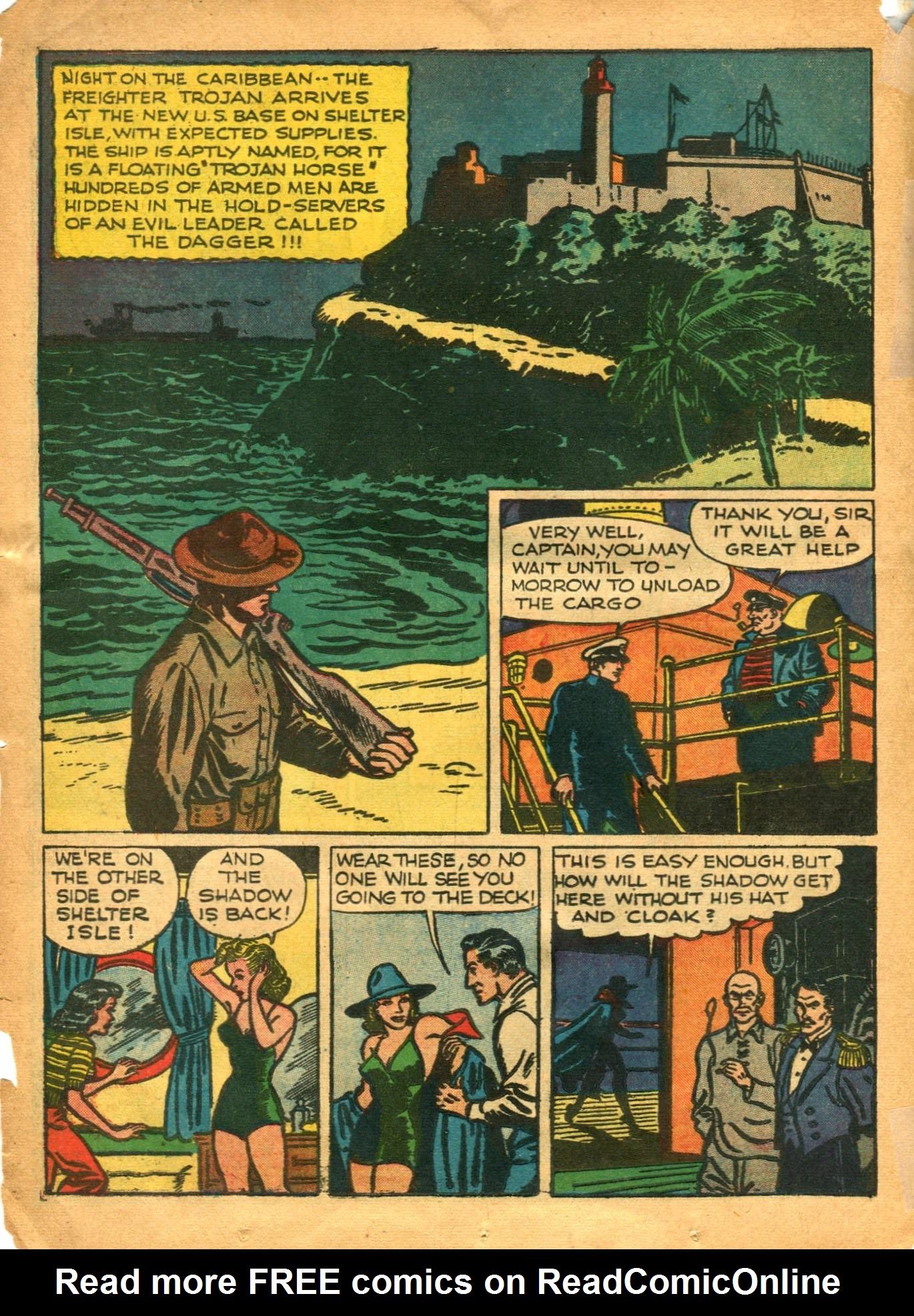 Read online Shadow Comics comic -  Issue #12 - 26