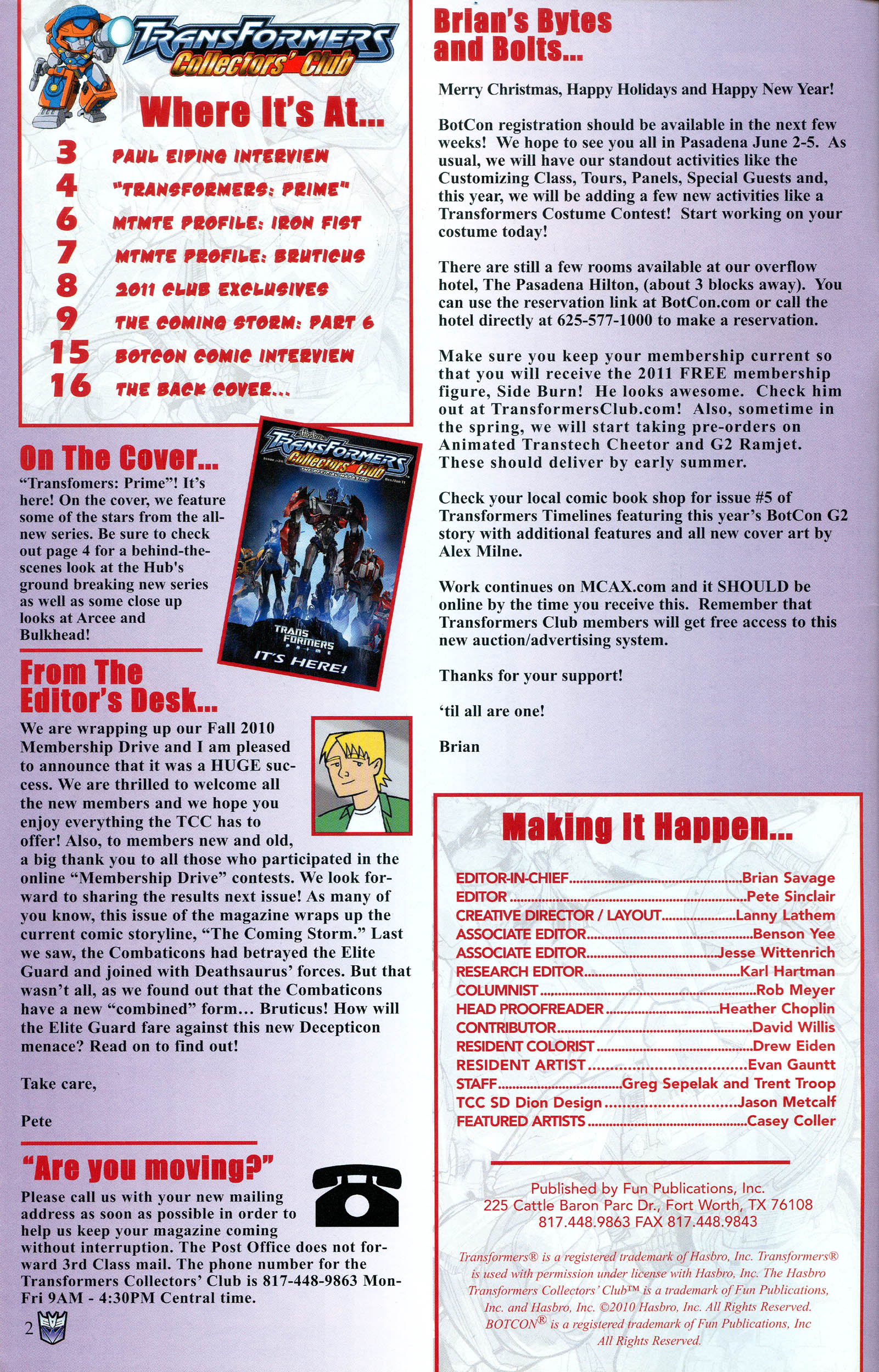 Read online Transformers: Collectors' Club comic -  Issue #36 - 2
