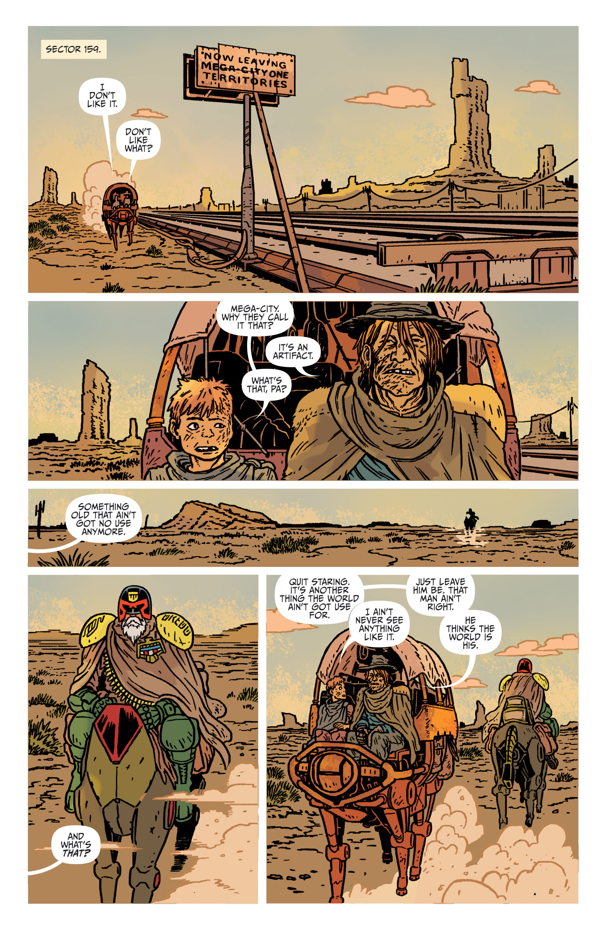 Read online Judge Dredd: The Blessed Earth comic -  Issue #1 - 5