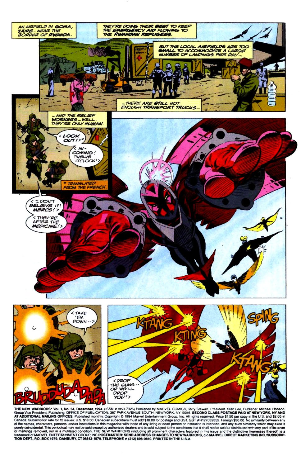 The New Warriors Issue #54 #58 - English 2