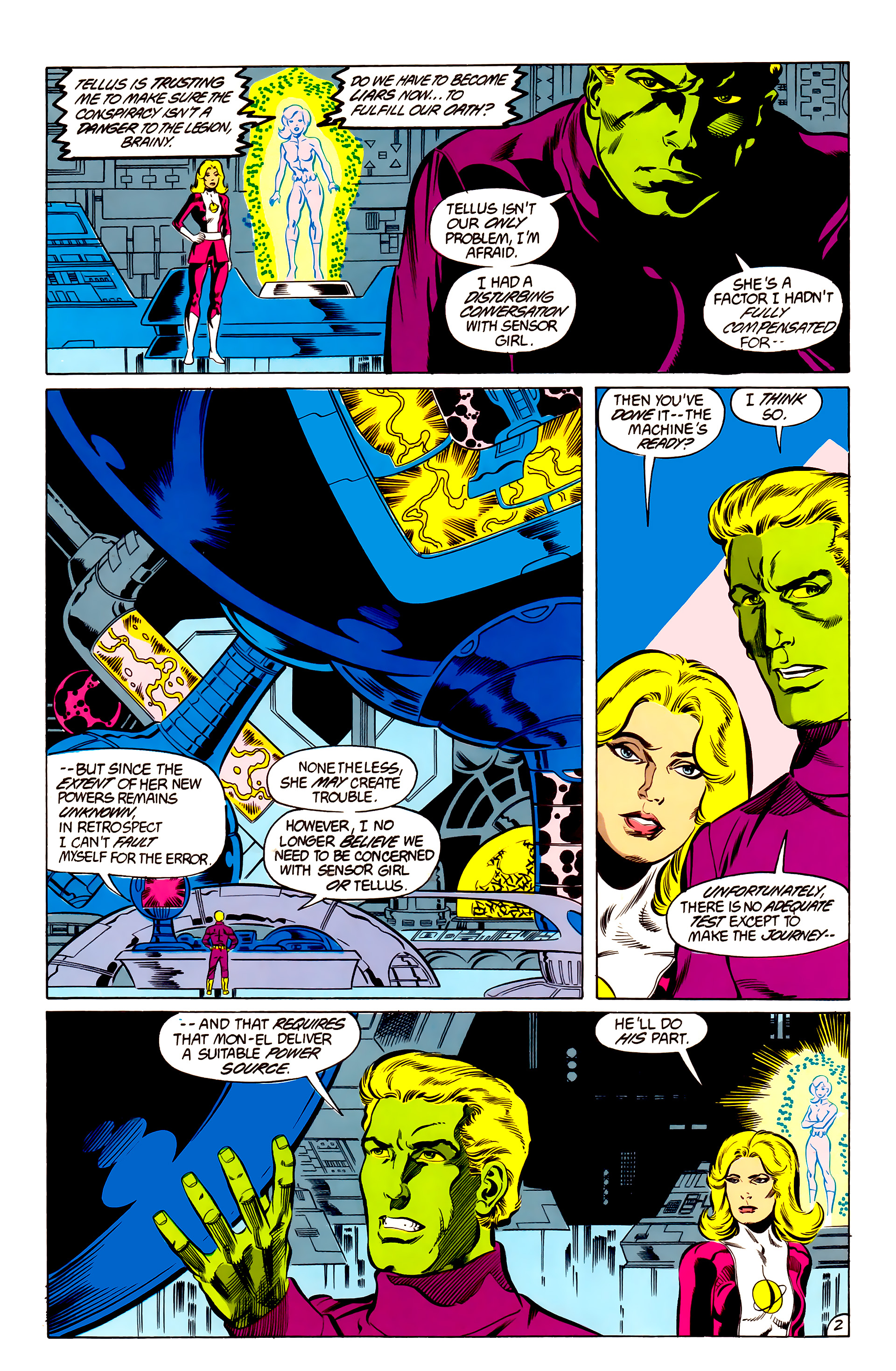 Legion of Super-Heroes (1984) 48 Page 2