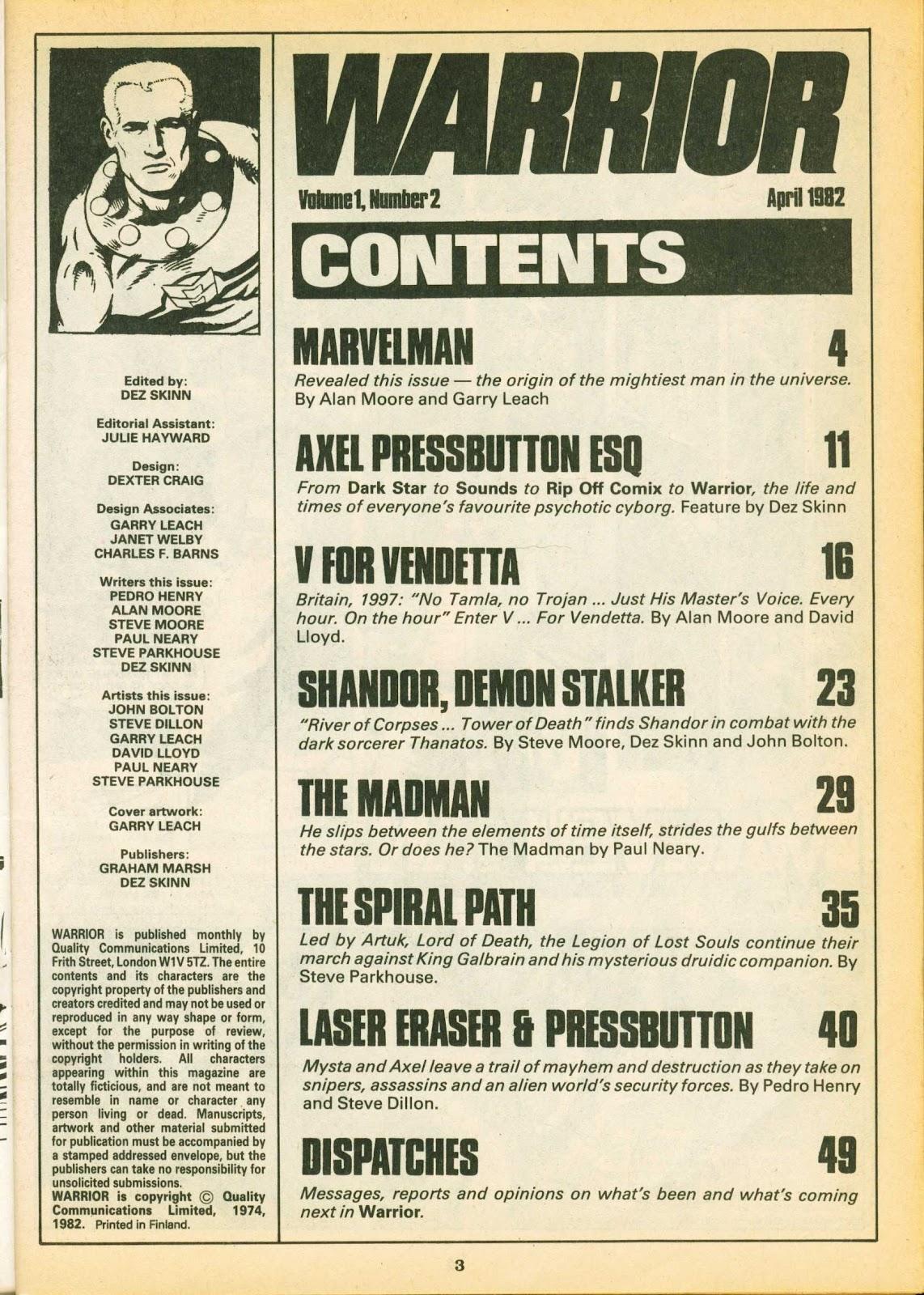 Warrior Issue #2 #3 - English 3