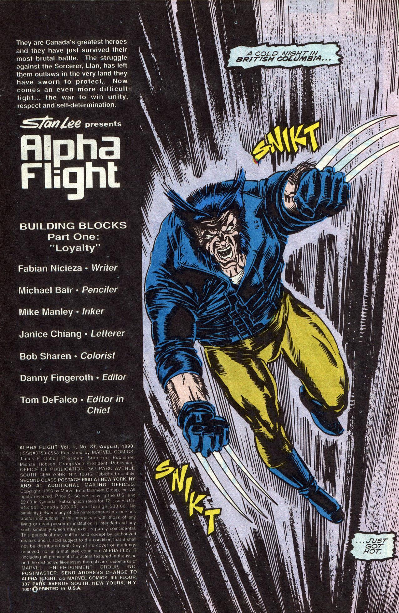 Read online Alpha Flight (1983) comic -  Issue #87 - 3