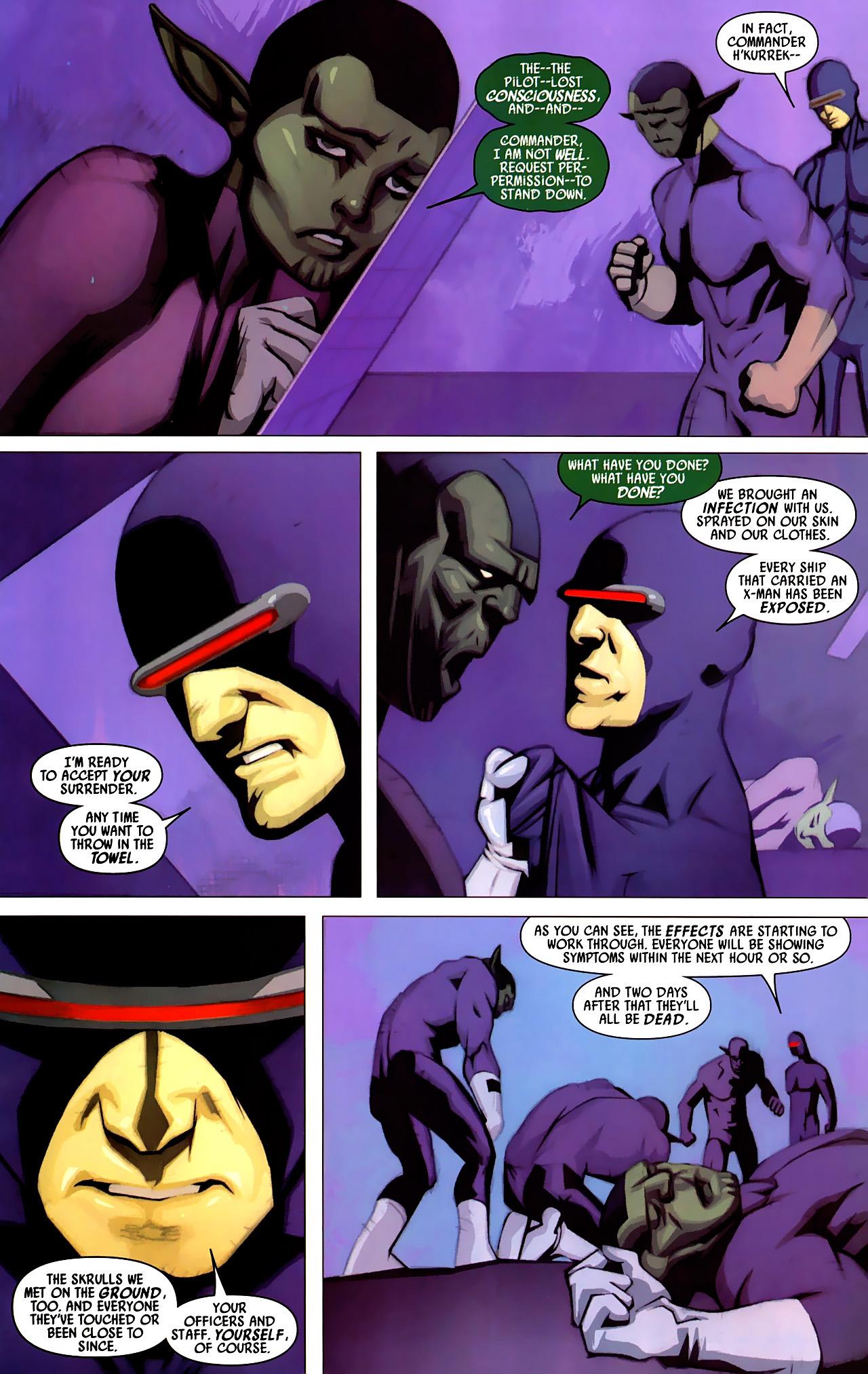 Read online Secret Invasion: X-Men comic -  Issue #4 - 17