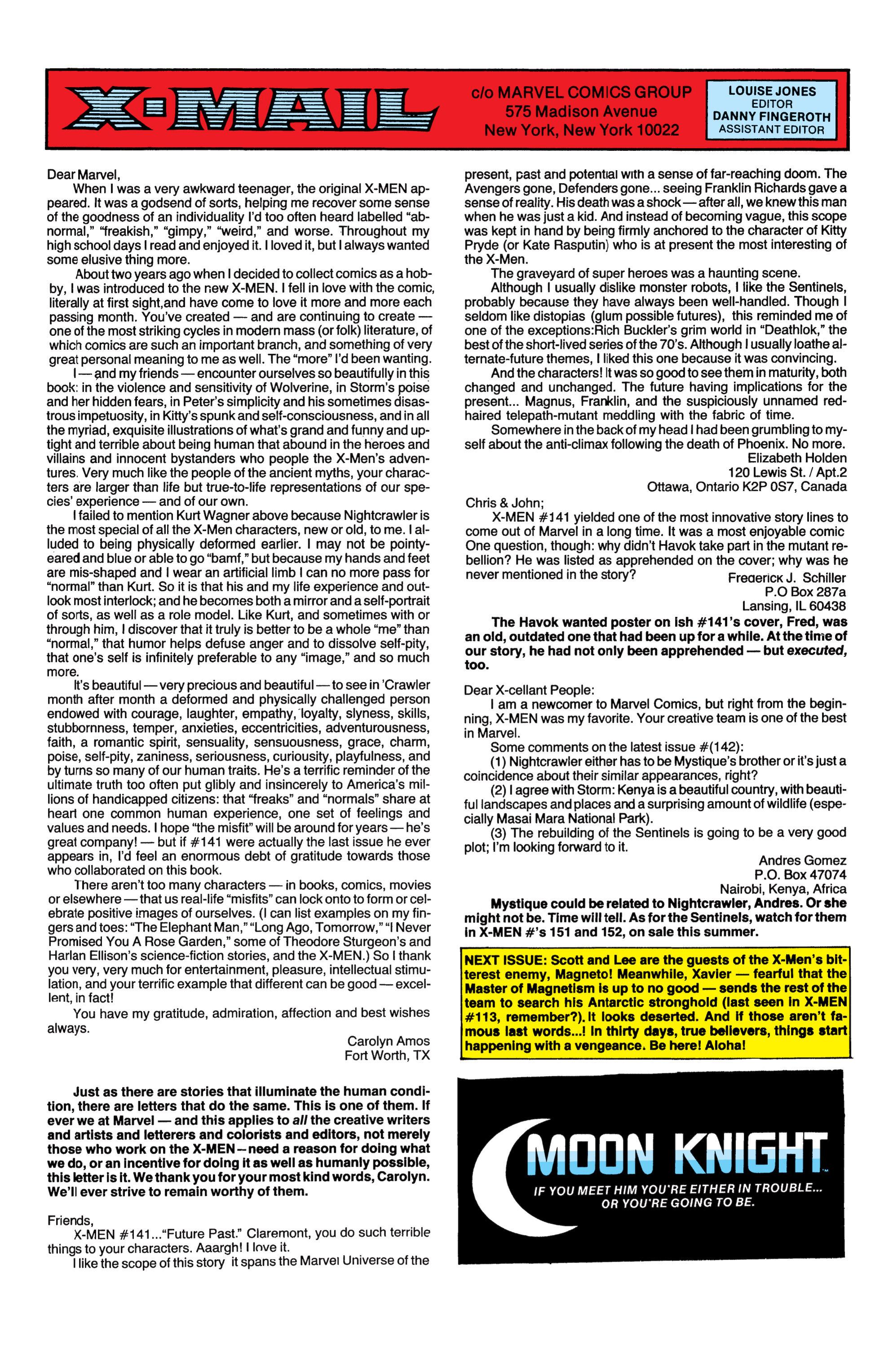 Read online Uncanny X-Men (1963) comic -  Issue #149 - 23