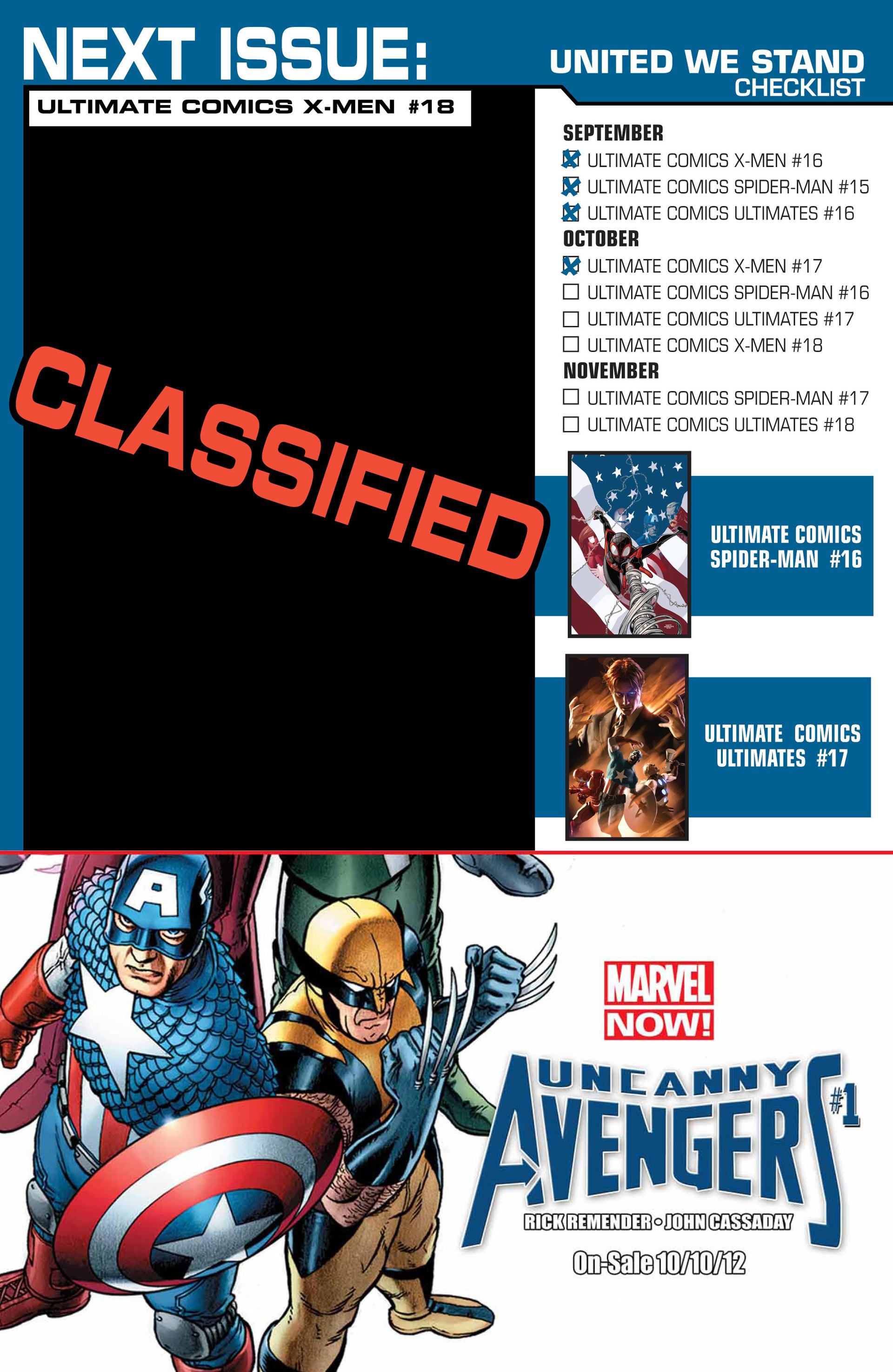 Read online Ultimate Comics X-Men comic -  Issue #17 - 23