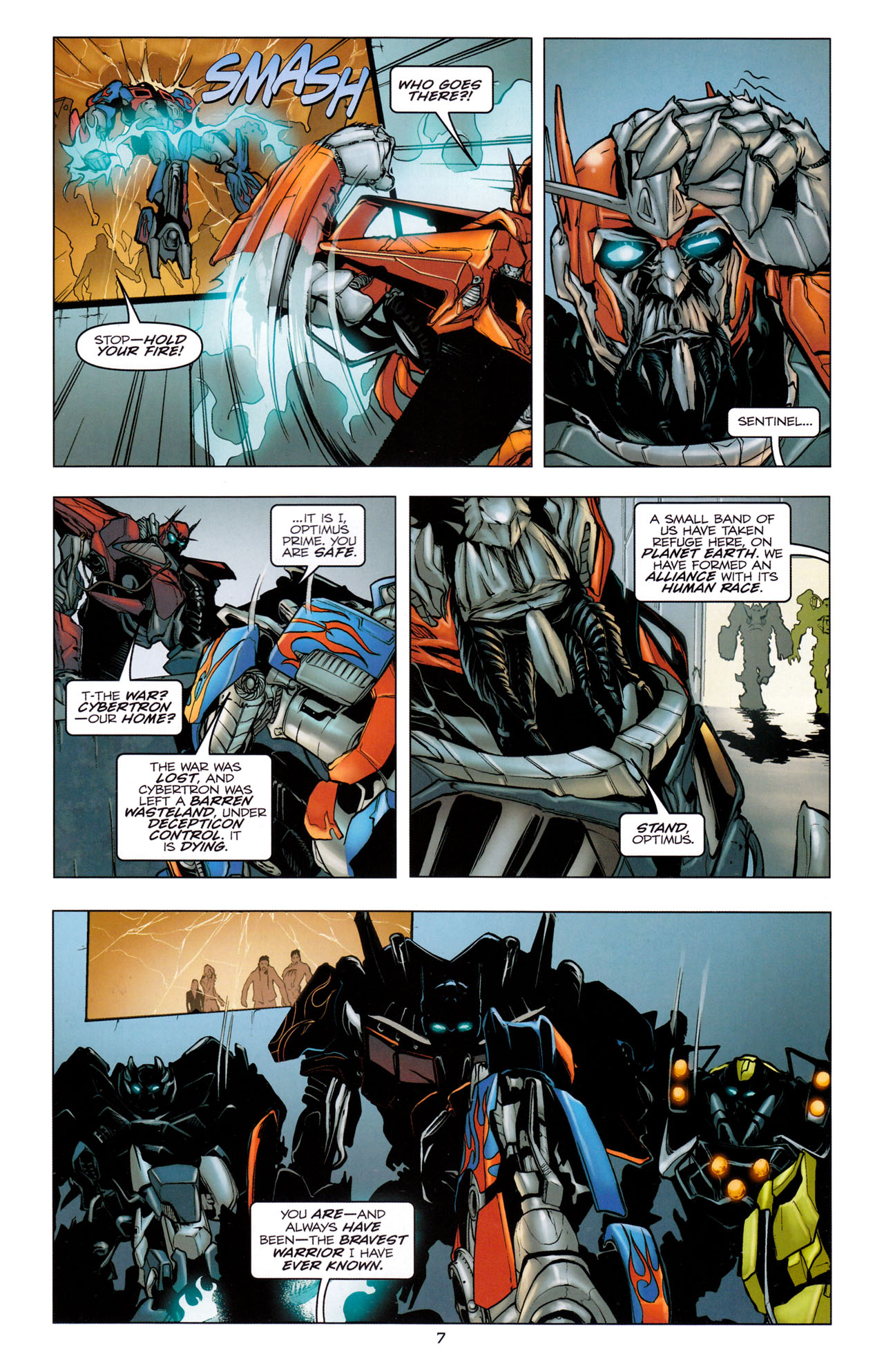 Read online Transformers: Dark of the Moon Movie Adaptation comic -  Issue #2 - 9