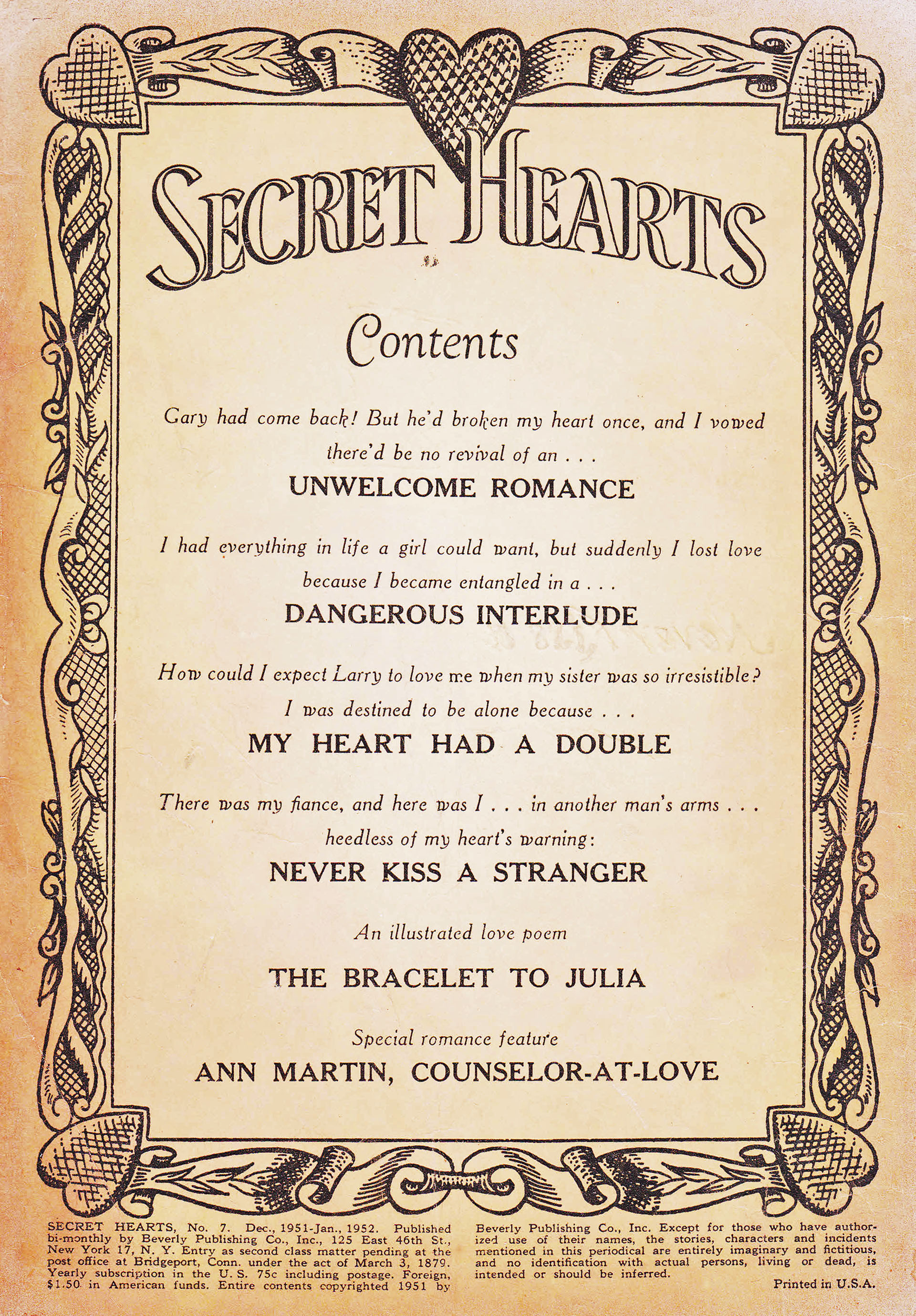 Read online Secret Hearts comic -  Issue #7 - 2
