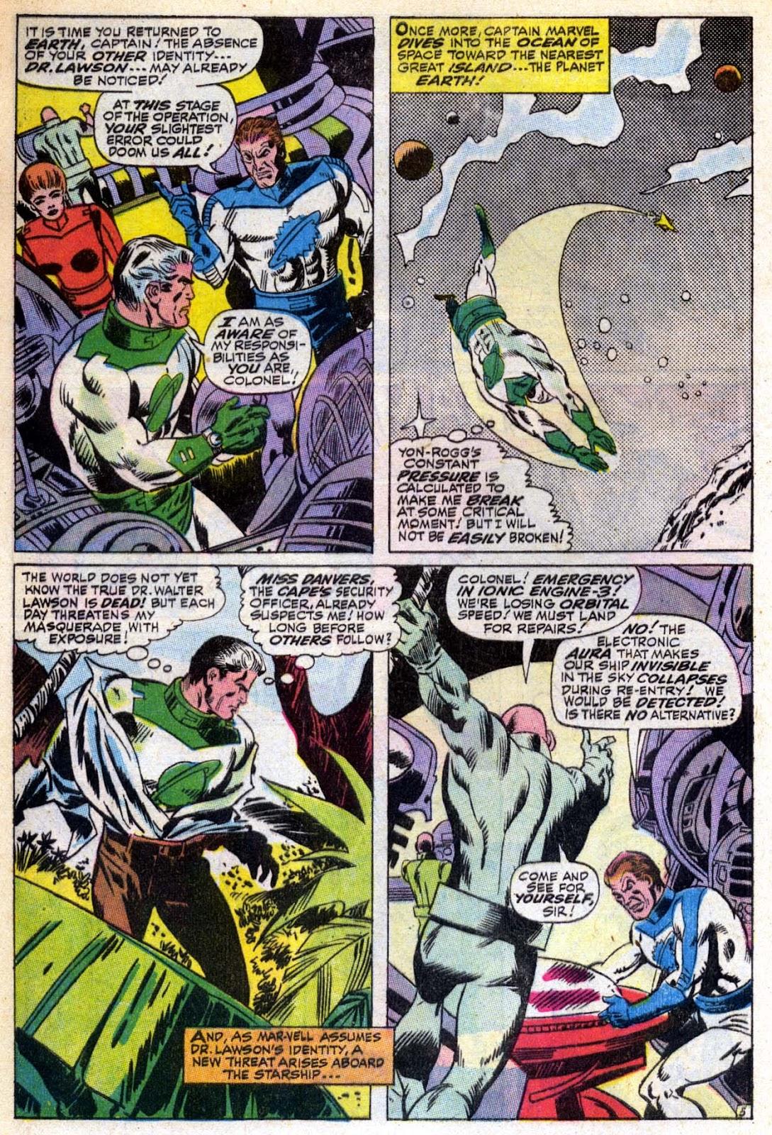 Captain Marvel (1968) Issue #6 #6 - English 6