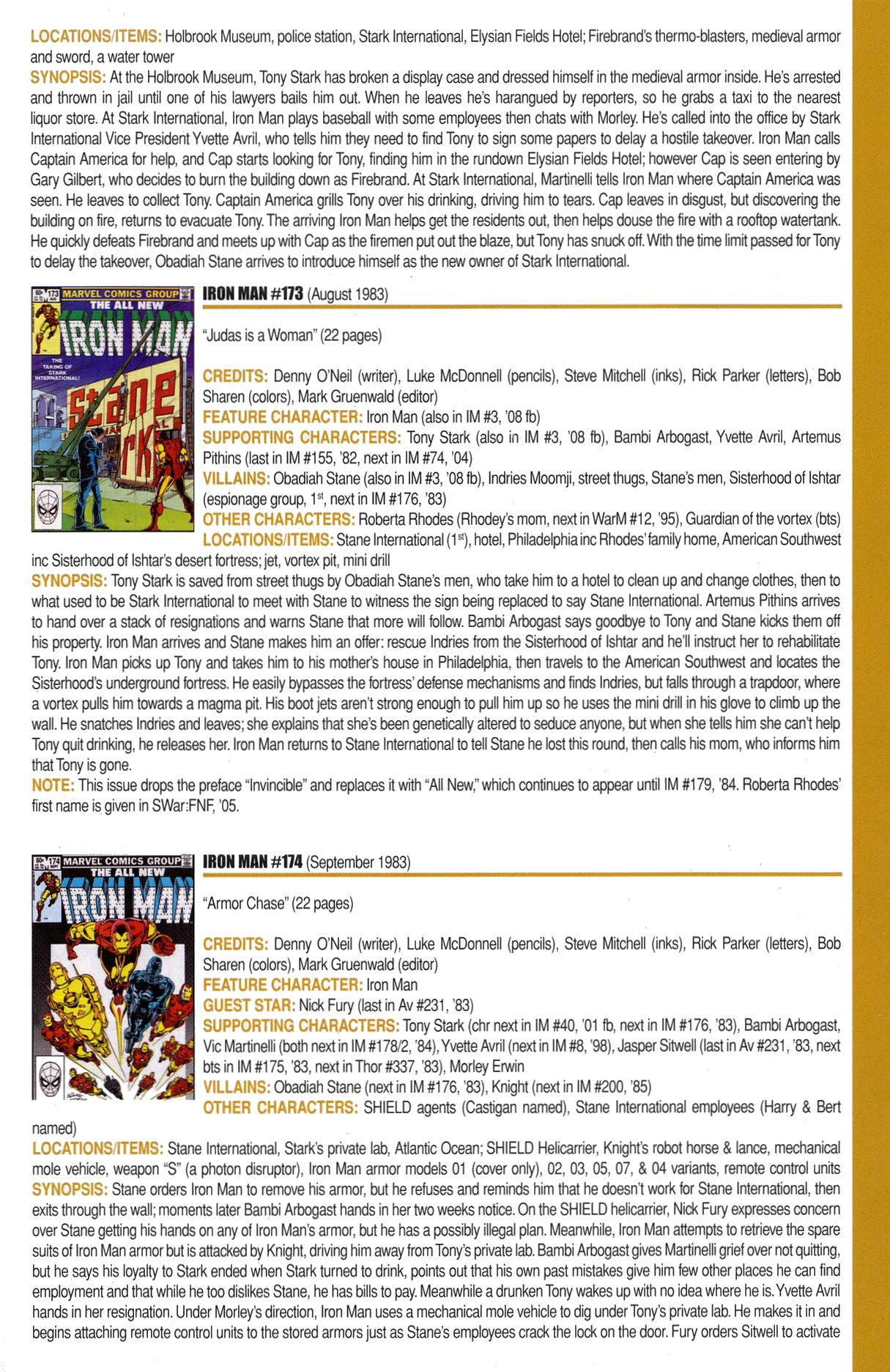 Read online Official Index to the Marvel Universe comic -  Issue #6 - 25