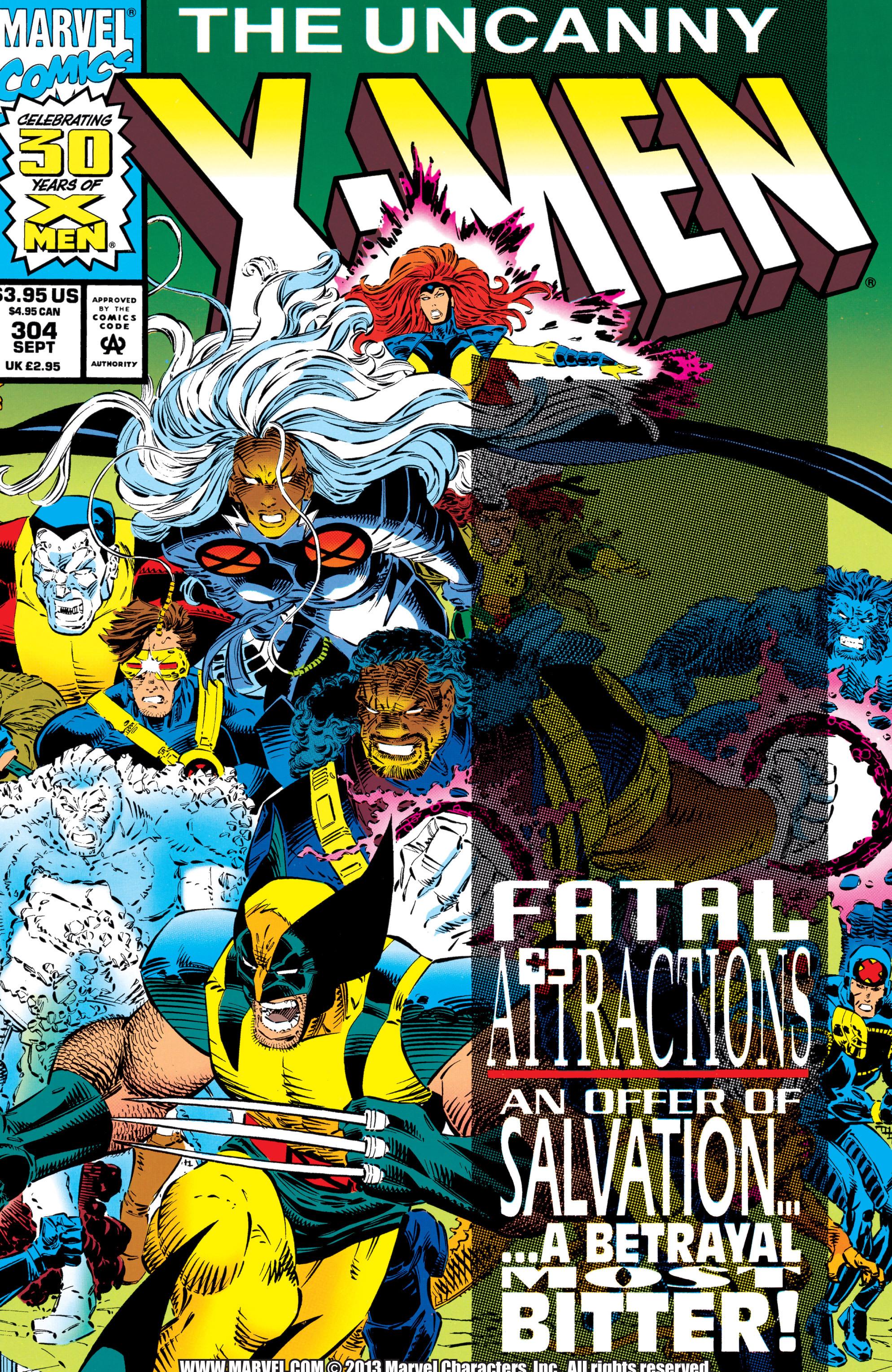 Read online Uncanny X-Men (1963) comic -  Issue #304 - 1