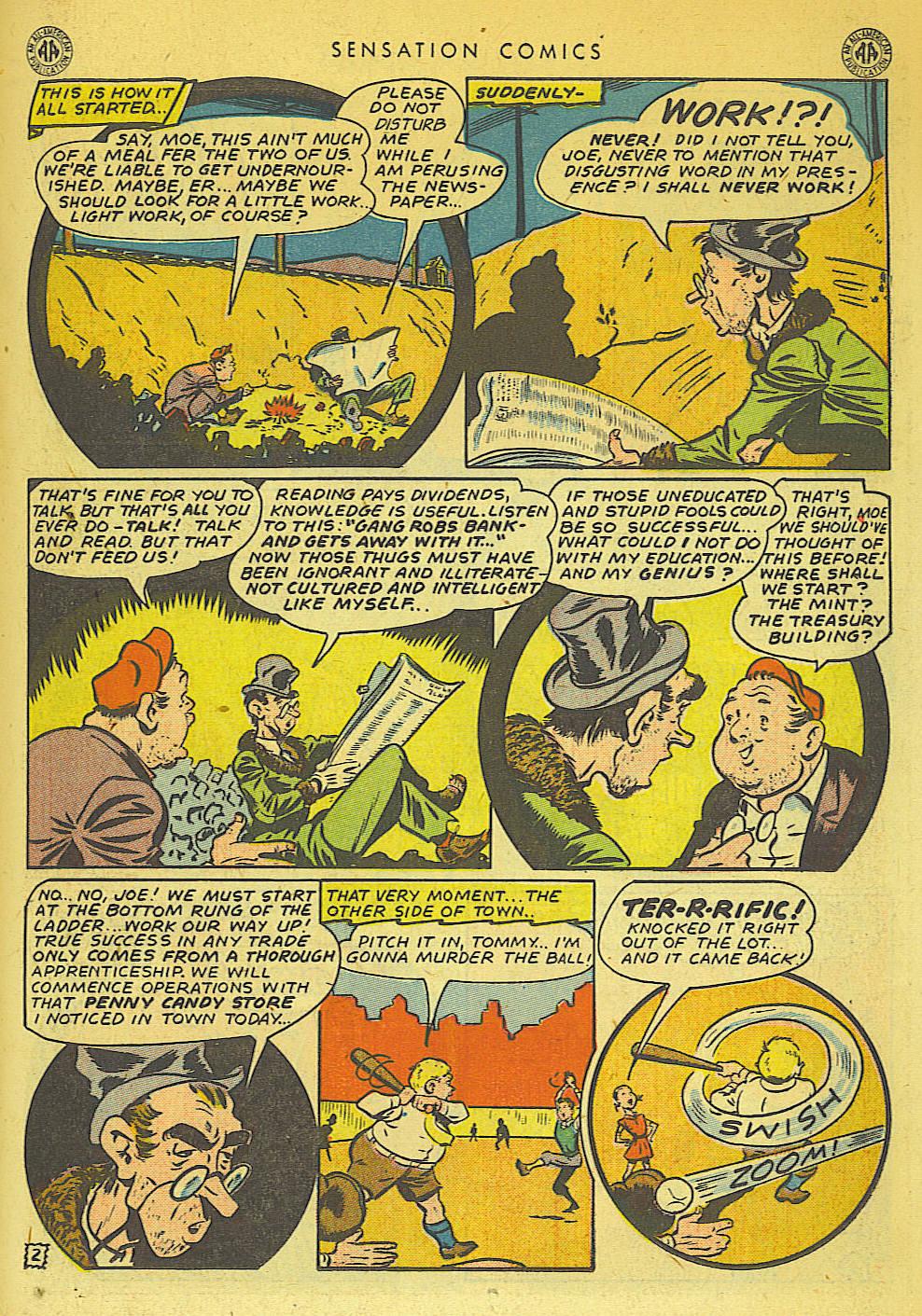 Read online Sensation (Mystery) Comics comic -  Issue #42 - 17