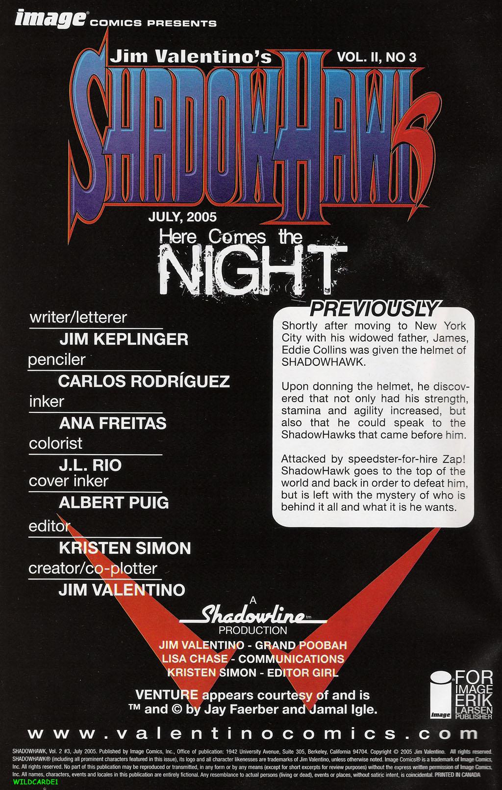 Read online ShadowHawk (2005) comic -  Issue #3 - 2