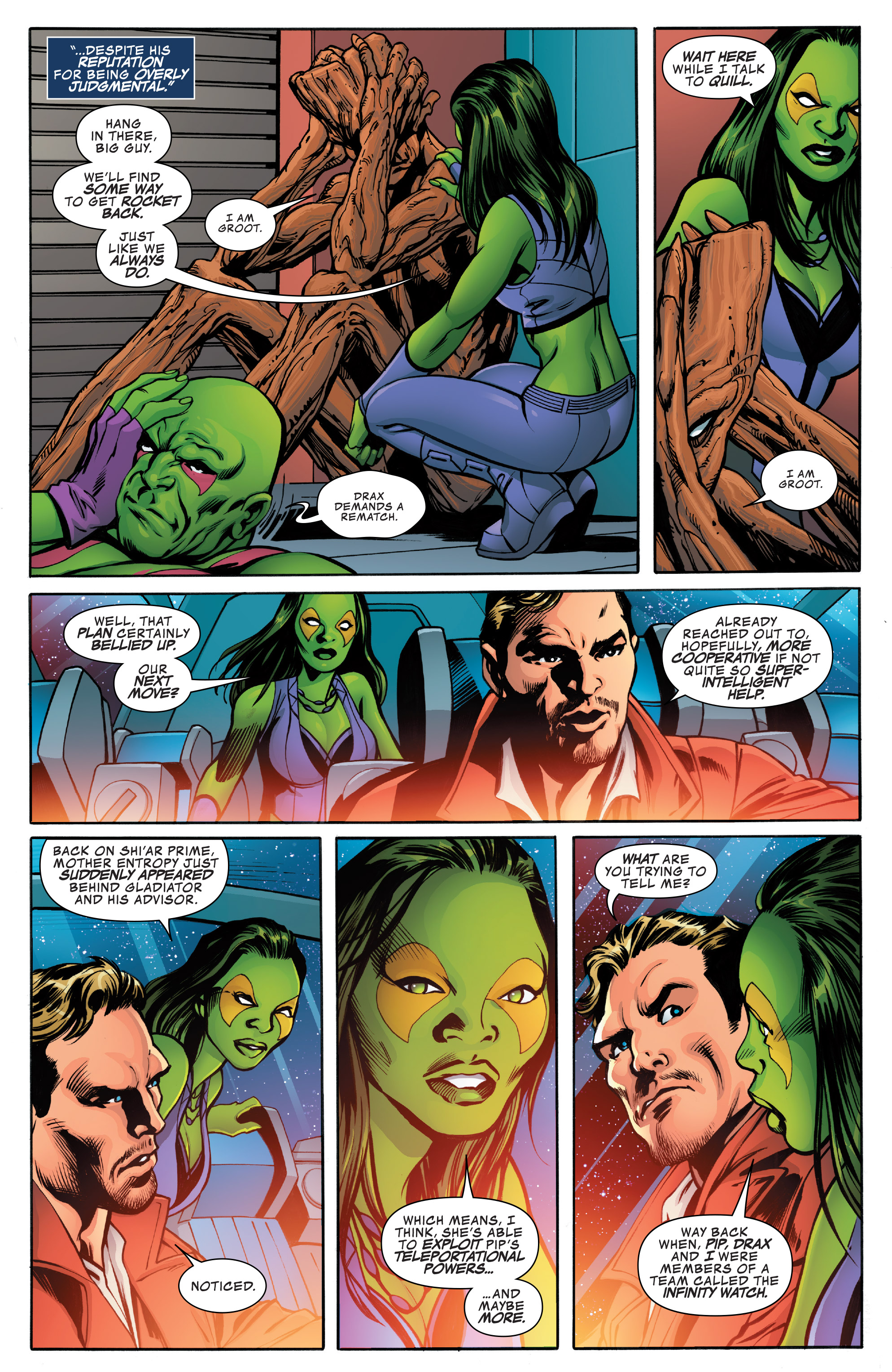 Read online Guardians of the Galaxy: Mother Entropy comic -  Issue #4 - 12