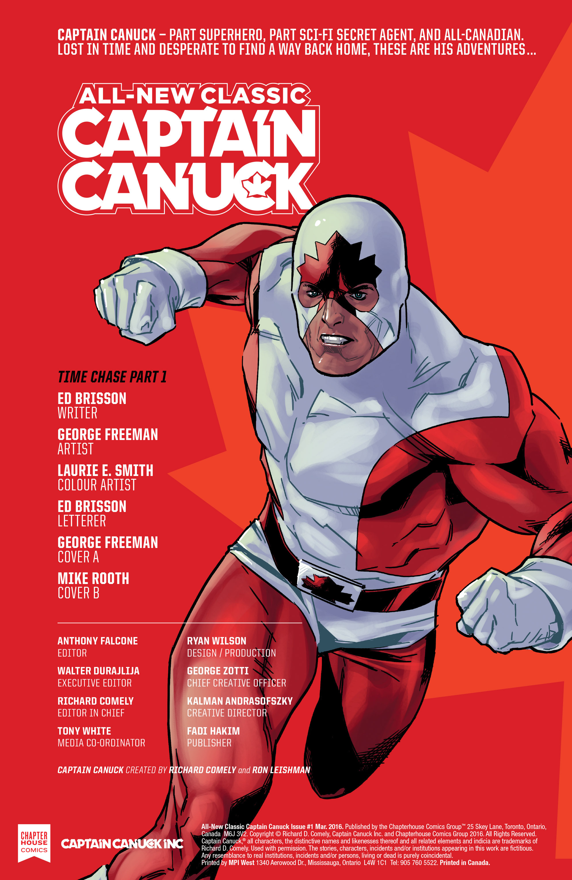 Read online All-New Classic Captain Canuck comic -  Issue #1 - 2