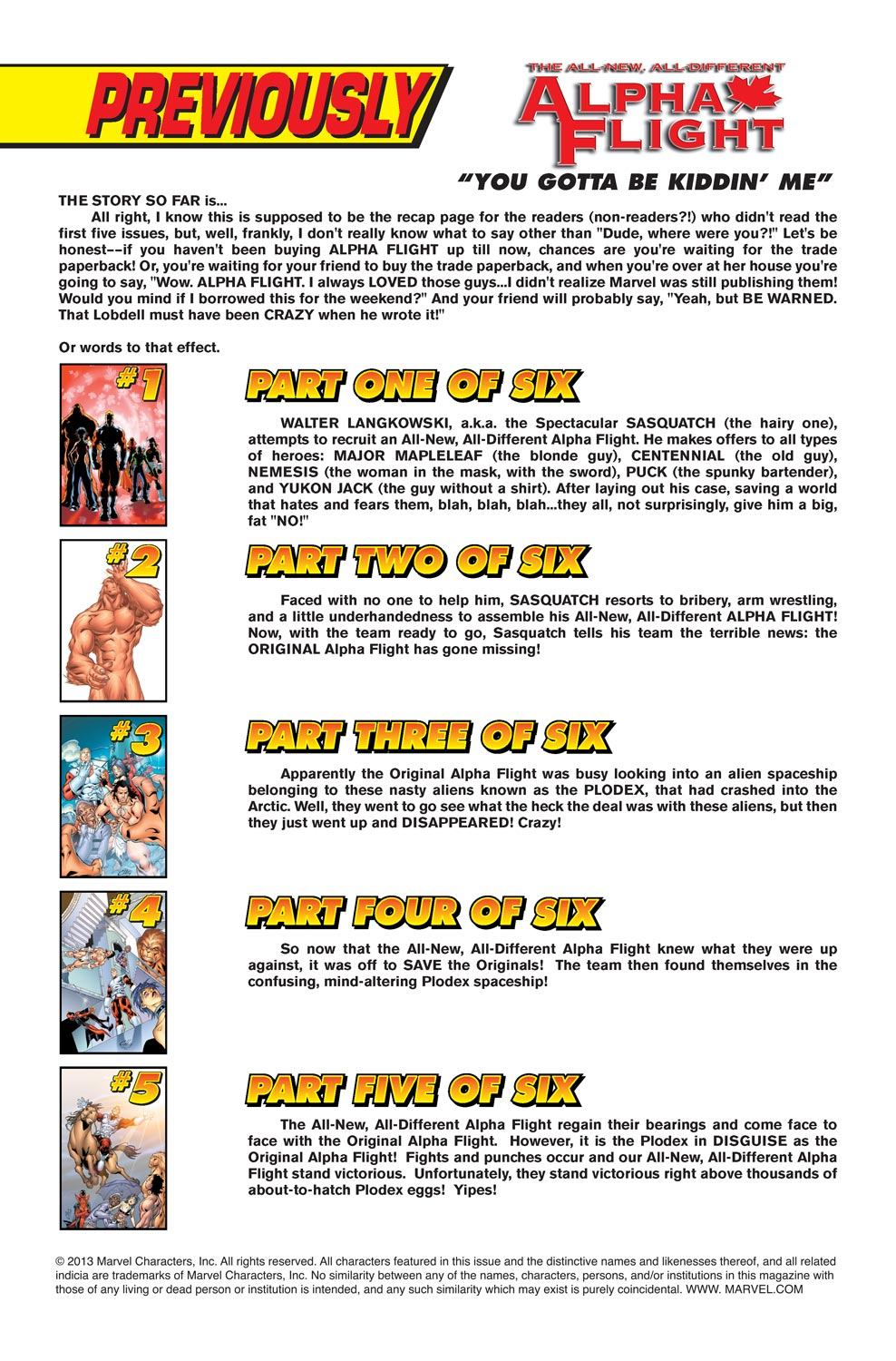 Read online Alpha Flight (2004) comic -  Issue #6 - 2