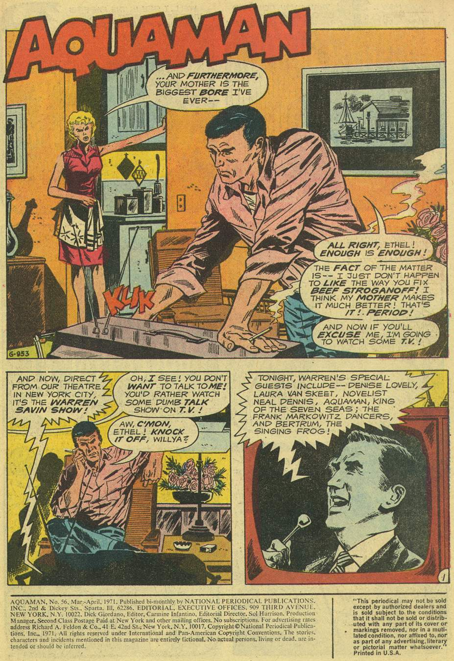 Read online Aquaman (1962) comic -  Issue #56 - 3