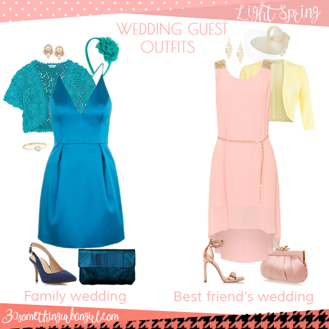 Wedding guest outfit ideas for Light Spring women by 30somethingurbangirl.com // Are you invited to a family or your best friend's wedding? Find pretty outfit ideas and look fabulous!