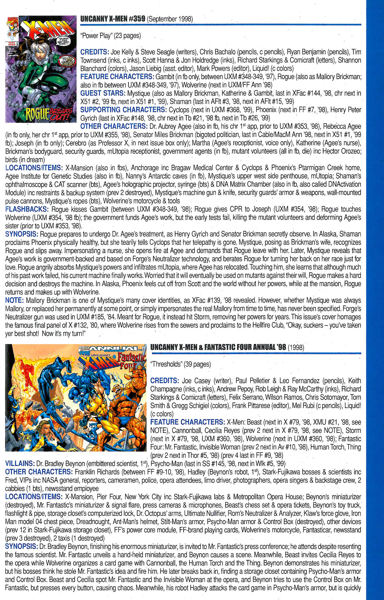 Read online Official Index to the Marvel Universe comic -  Issue #9 - 57