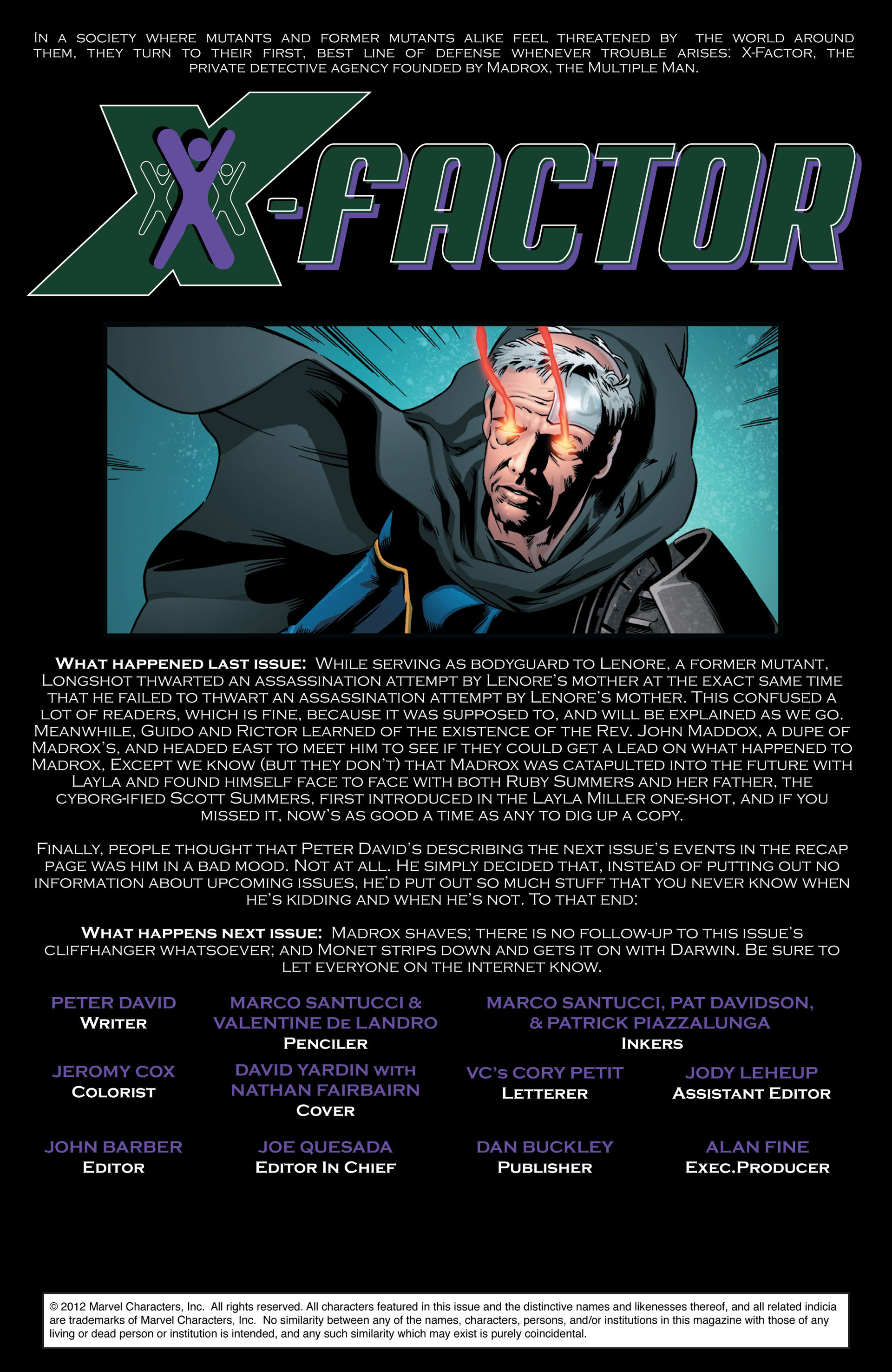 Read online X-Factor (2006) comic -  Issue #43 - 2