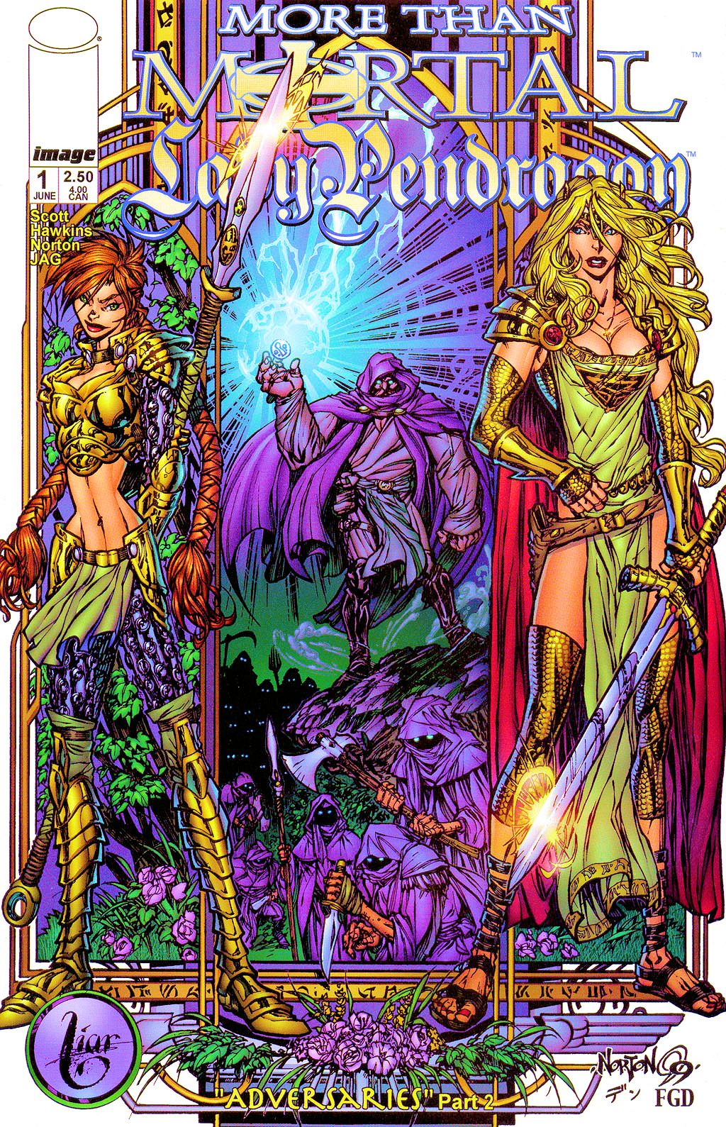 Read online Lady Pendragon / More Than Mortal comic -  Issue #1 - 1