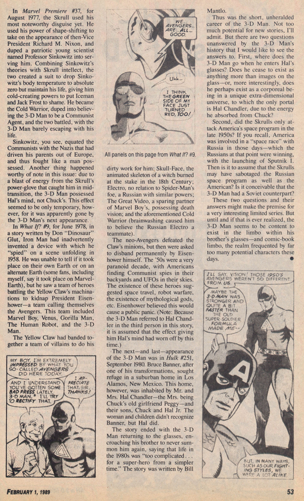 Read online Amazing Heroes comic -  Issue #158 - 54