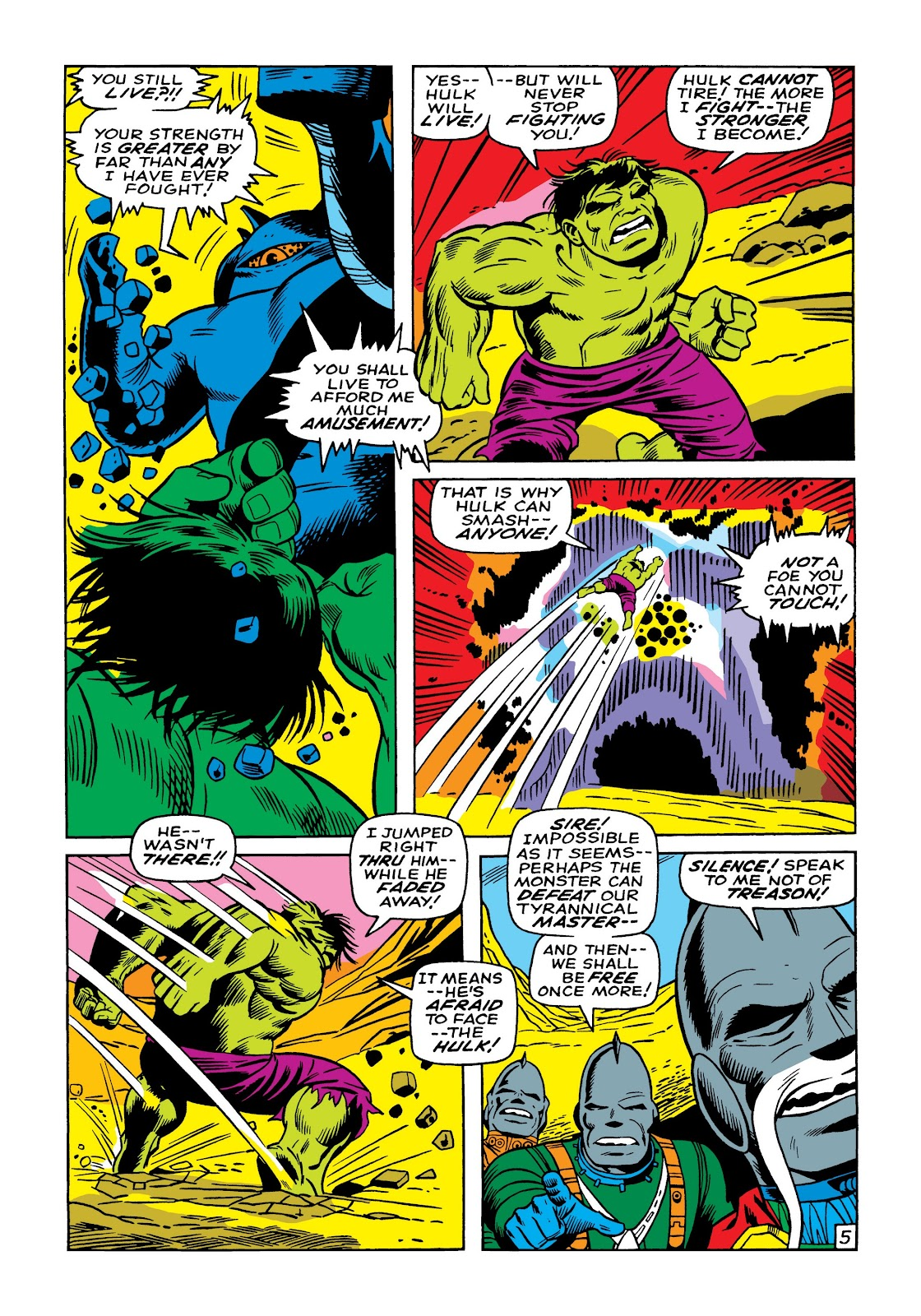 Read online Marvel Masterworks: The Incredible Hulk comic -  Issue # TPB 5 (Part 1) - 32