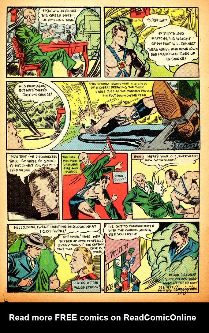 Read online Amazing Man Comics comic -  Issue #12 - 18