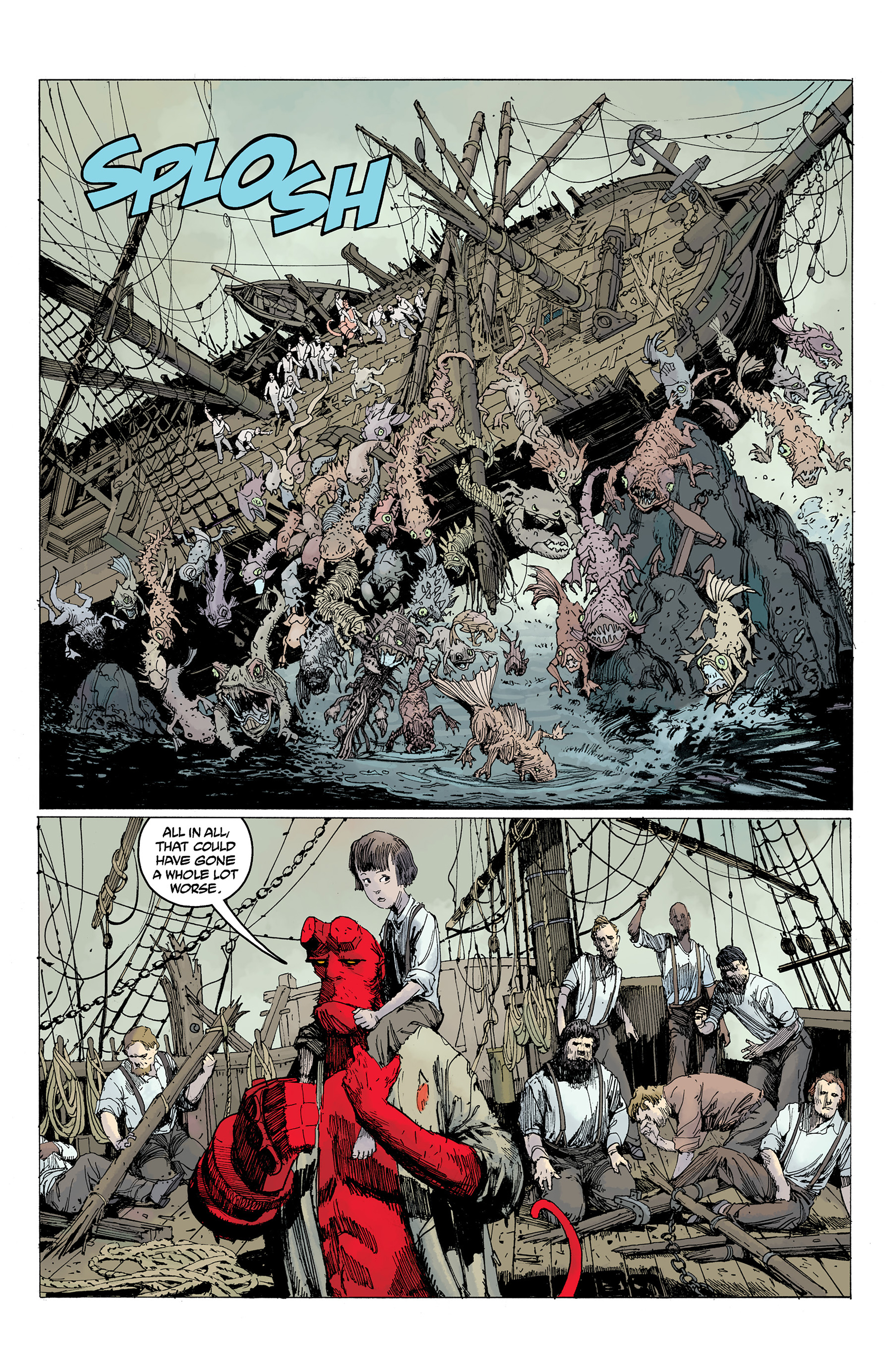 Read online Hellboy: Into the Silent Sea comic -  Issue # Full - 53