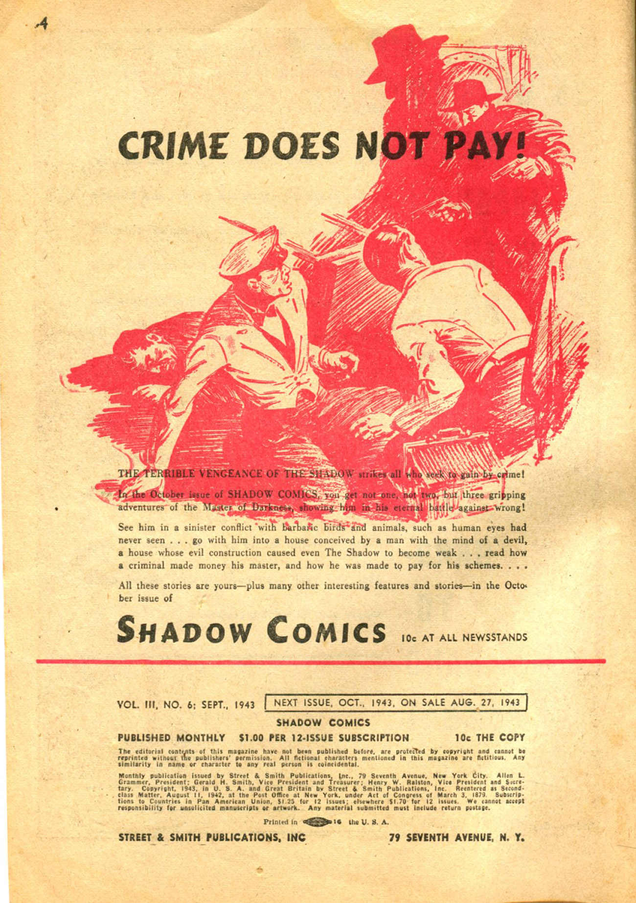 Read online Shadow Comics comic -  Issue #30 - 4