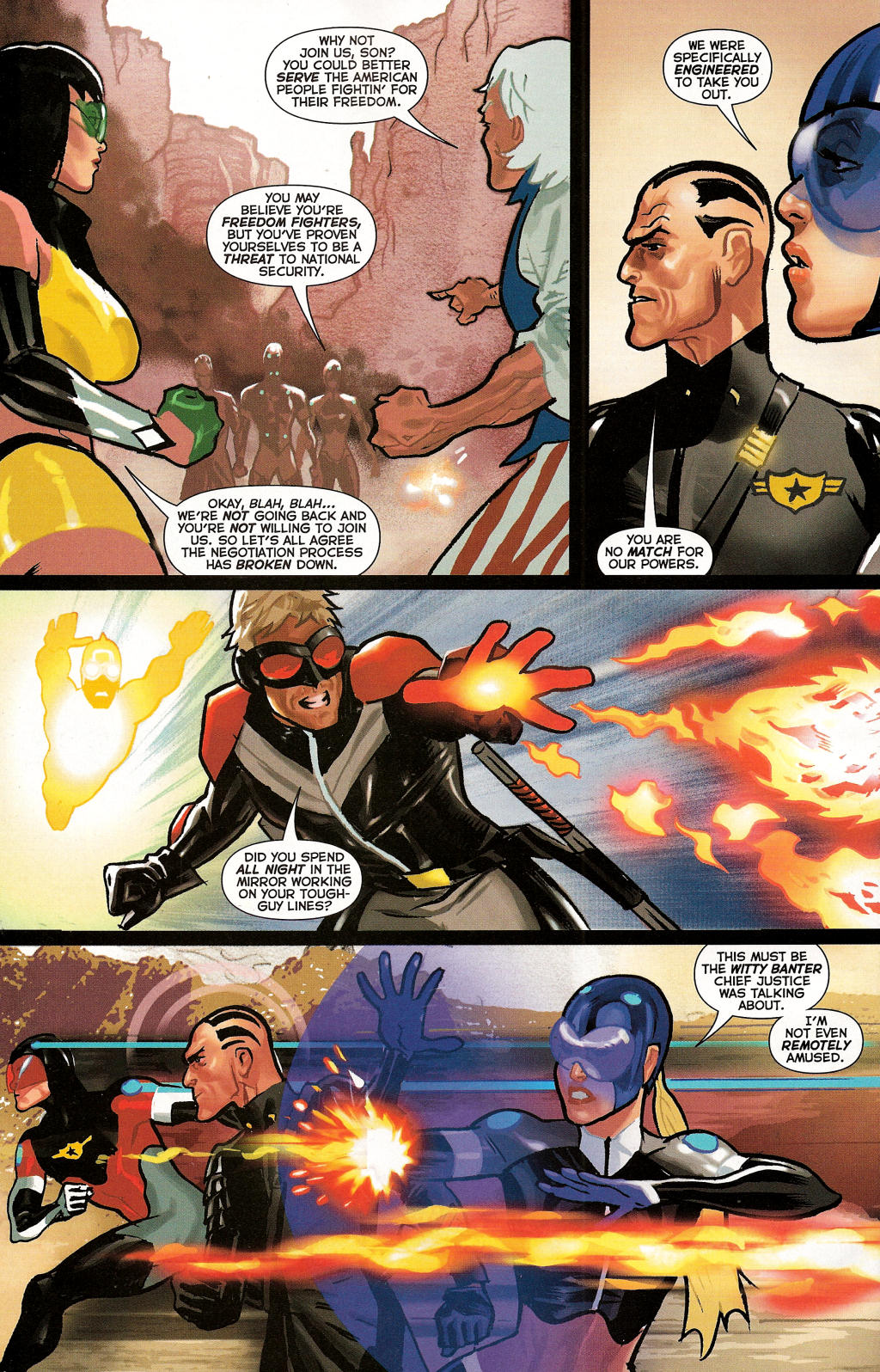 Read online Uncle Sam and the Freedom Fighters (2006) comic -  Issue #3 - 30