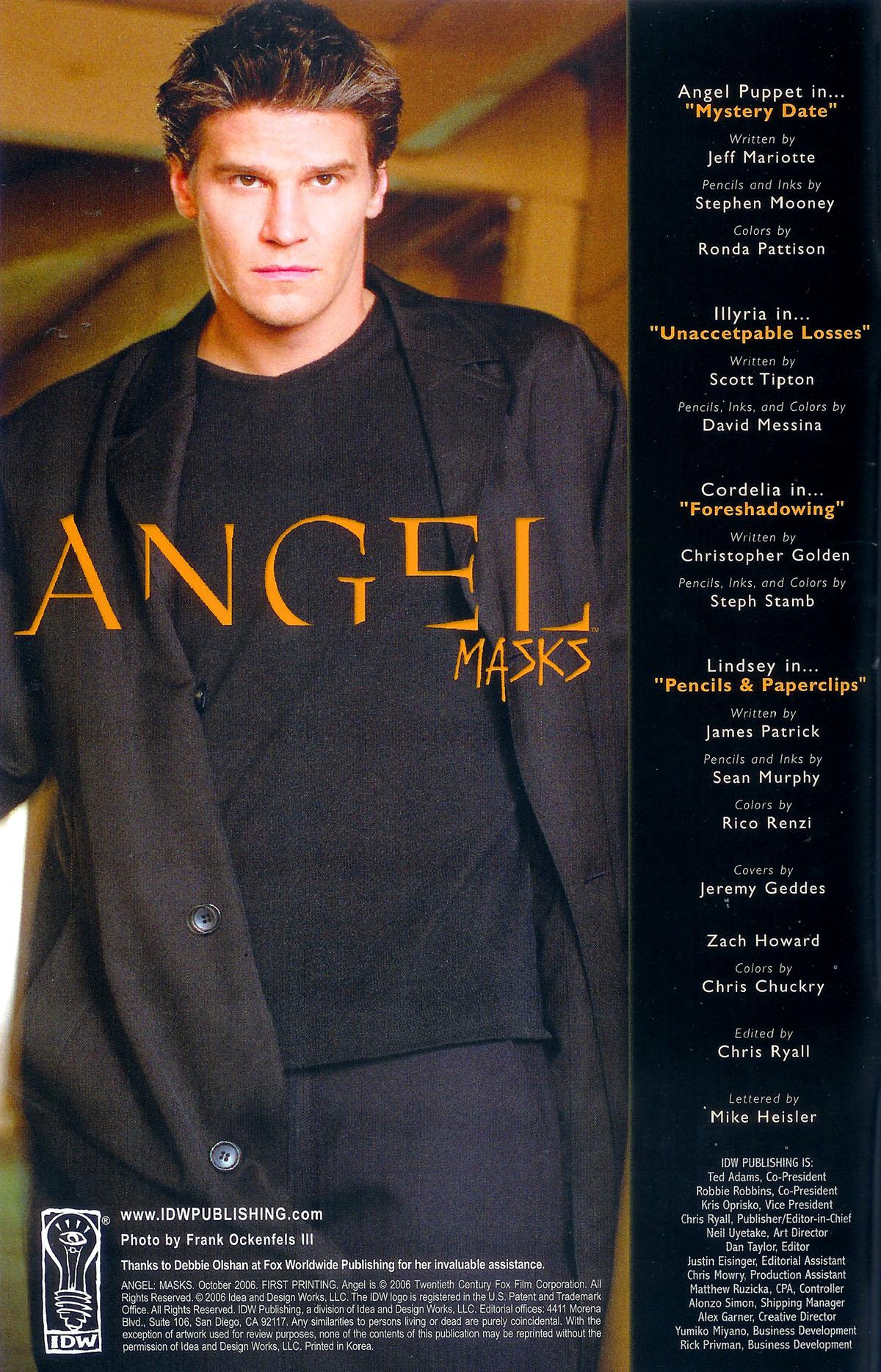 Read online Angel: Masks comic -  Issue # Full - 2