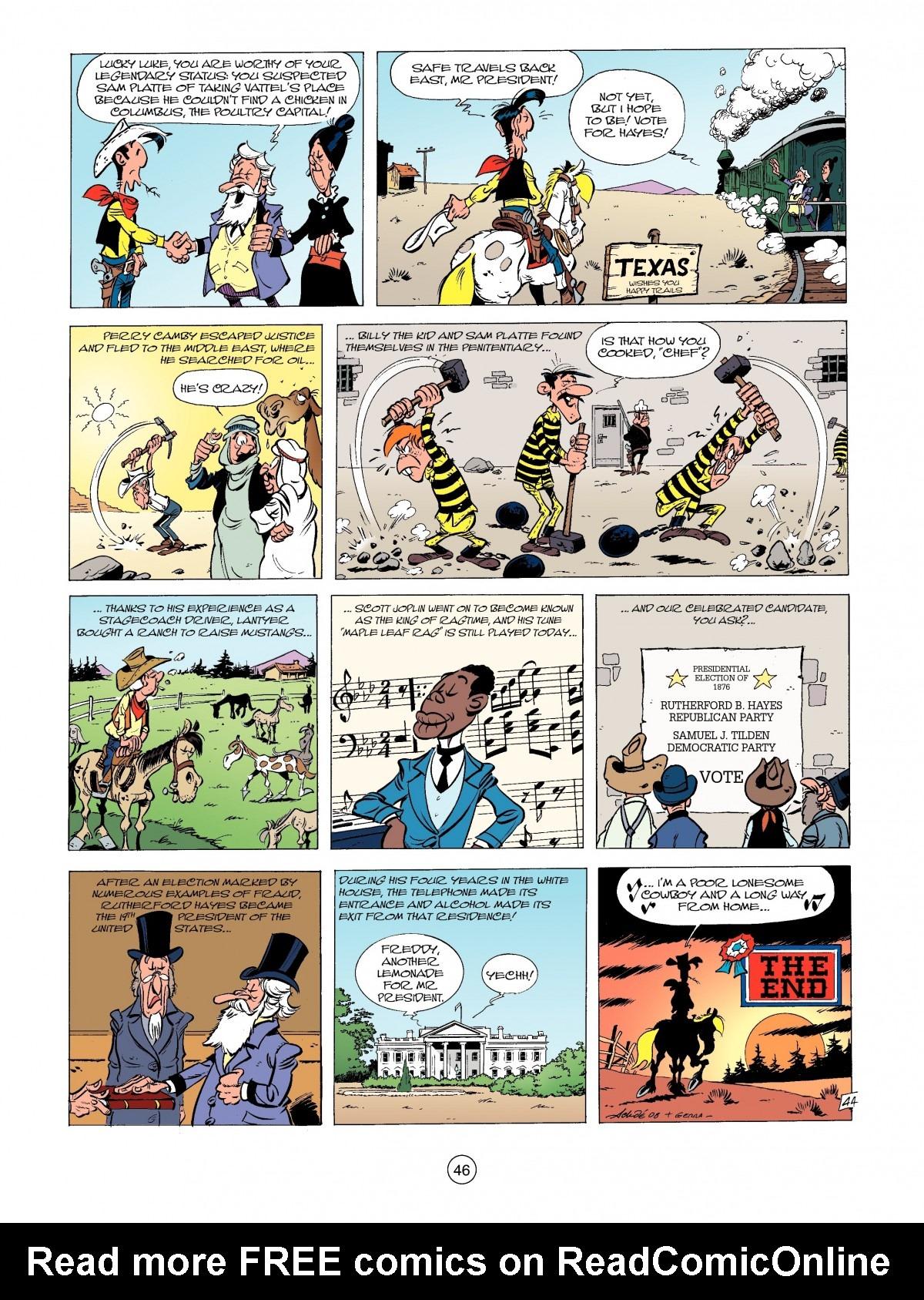 Read online A Lucky Luke Adventure comic -  Issue #39 - 46