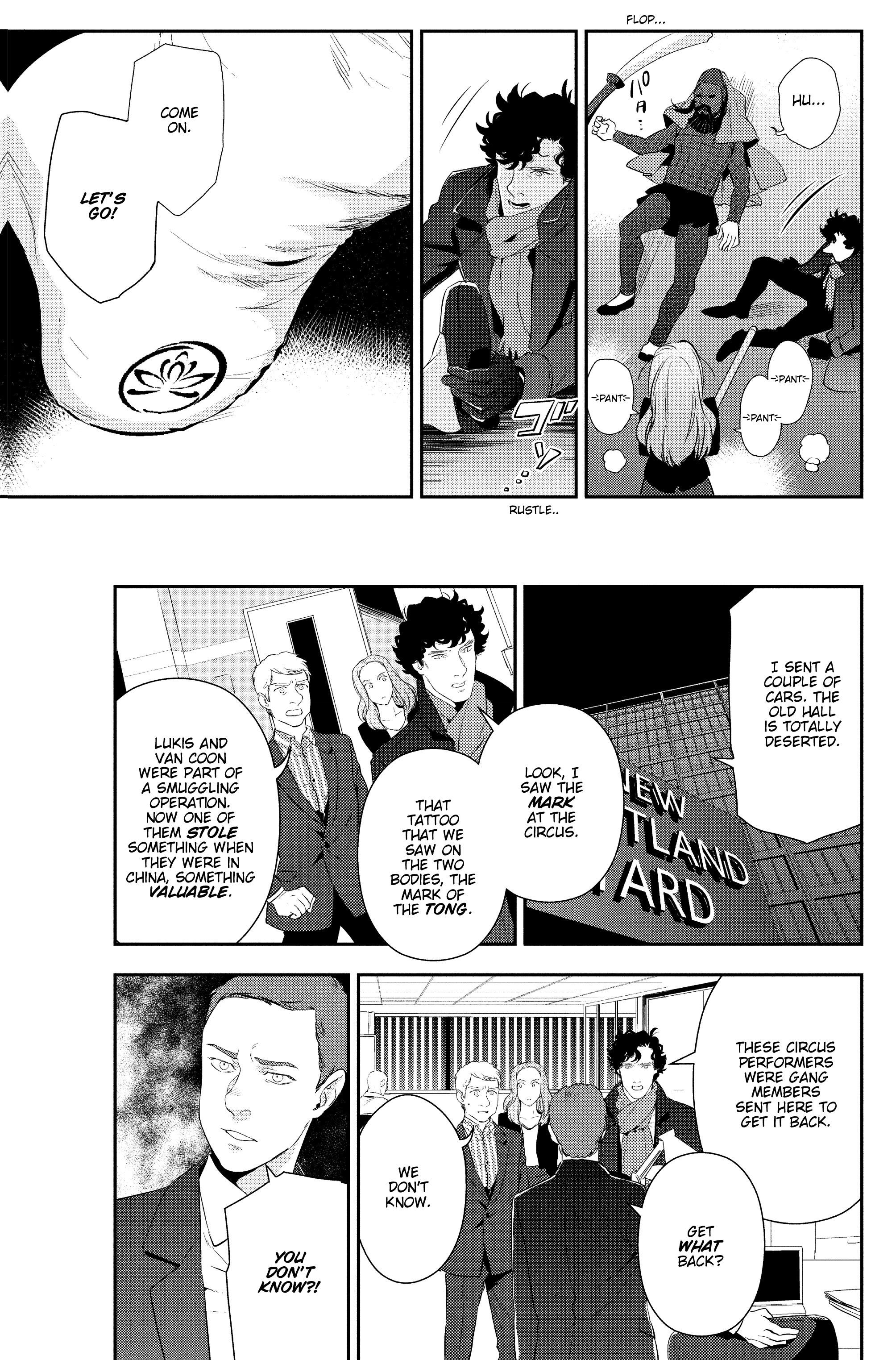 Read online Sherlock: The Blind Banker comic -  Issue #5 - 28