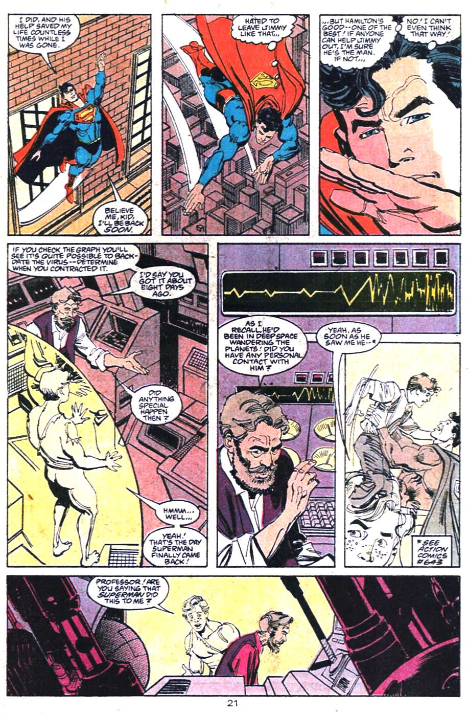 Read online Adventures of Superman (1987) comic -  Issue #458 - 22
