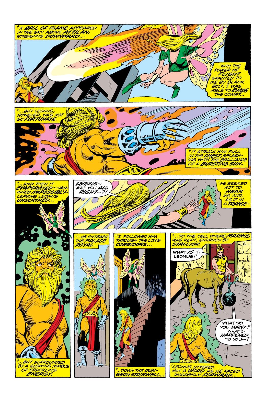 Read online Marvel Masterworks: The Inhumans comic -  Issue # TPB 2 (Part 1) - 94