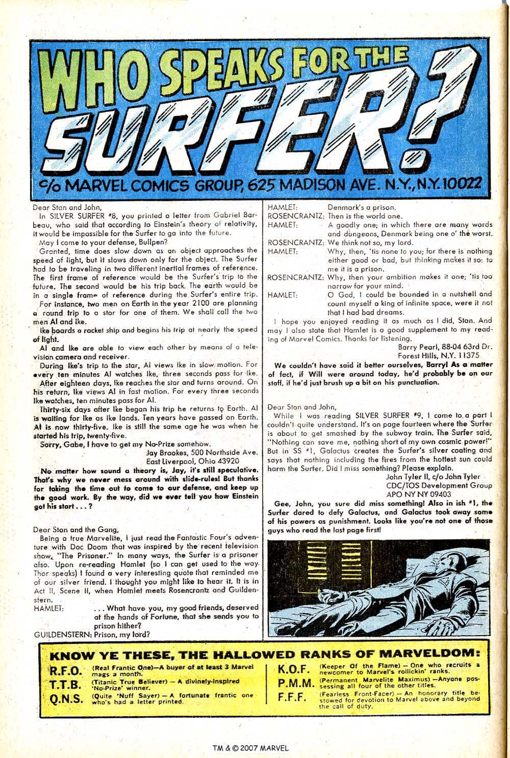 Read online Silver Surfer (1968) comic -  Issue #14 - 32