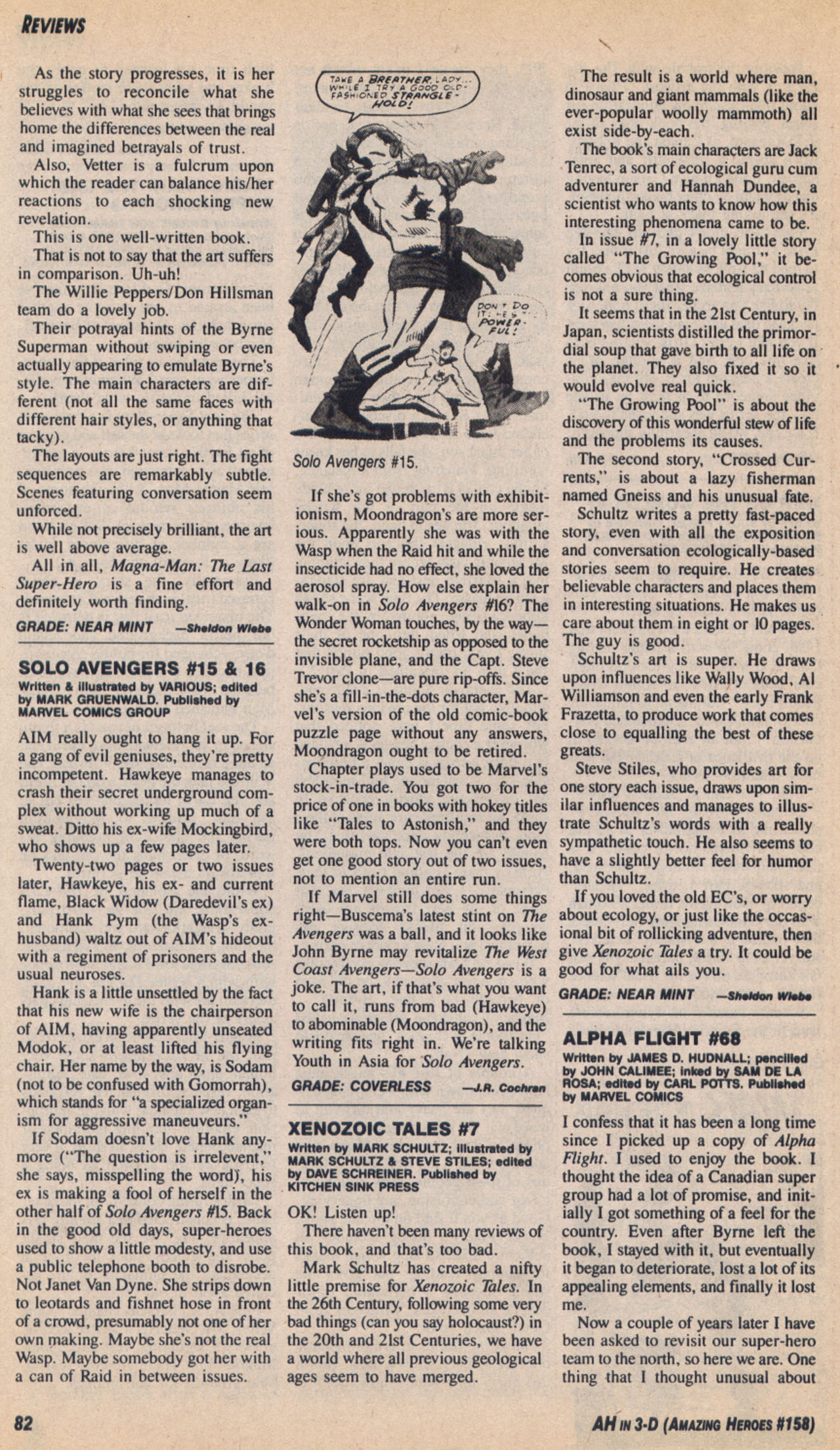 Read online Amazing Heroes comic -  Issue #158 - 83