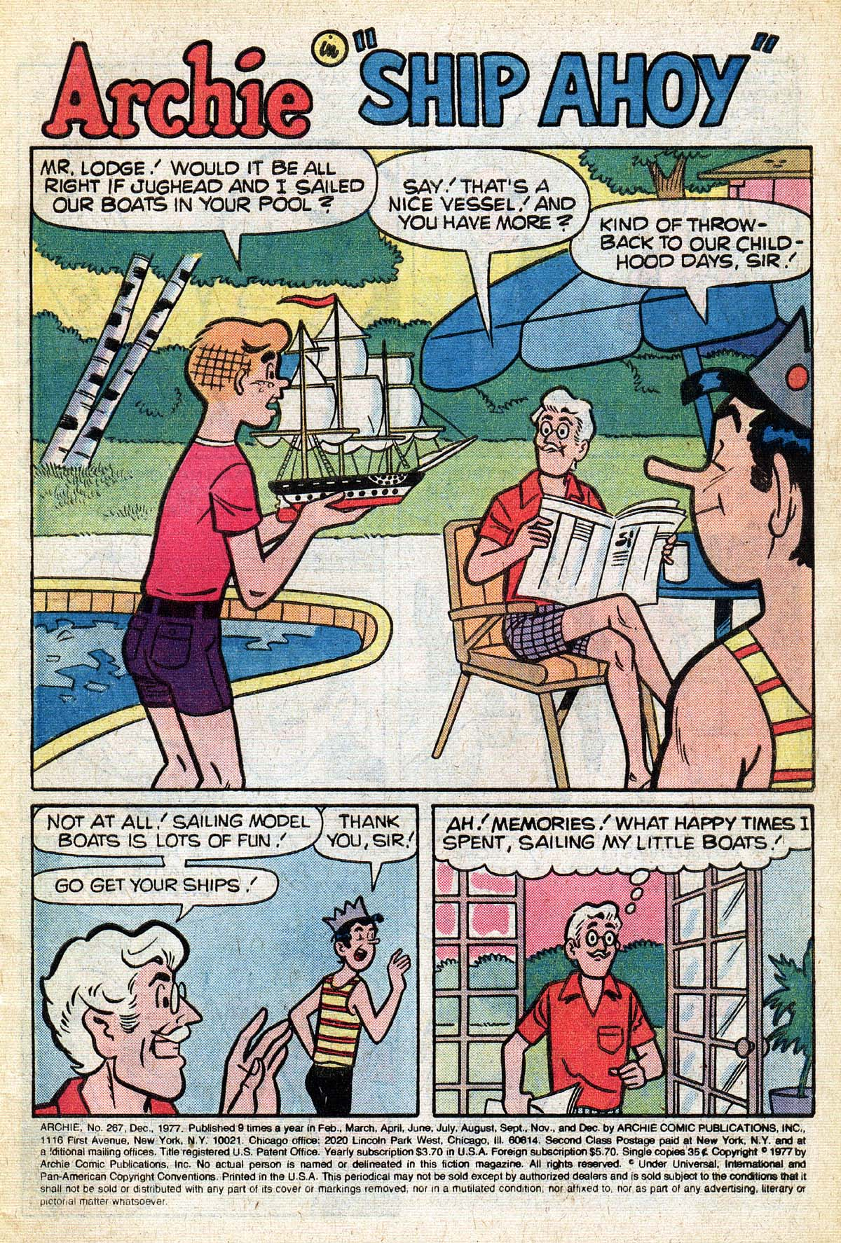 Read online Archie (1960) comic -  Issue #267 - 3