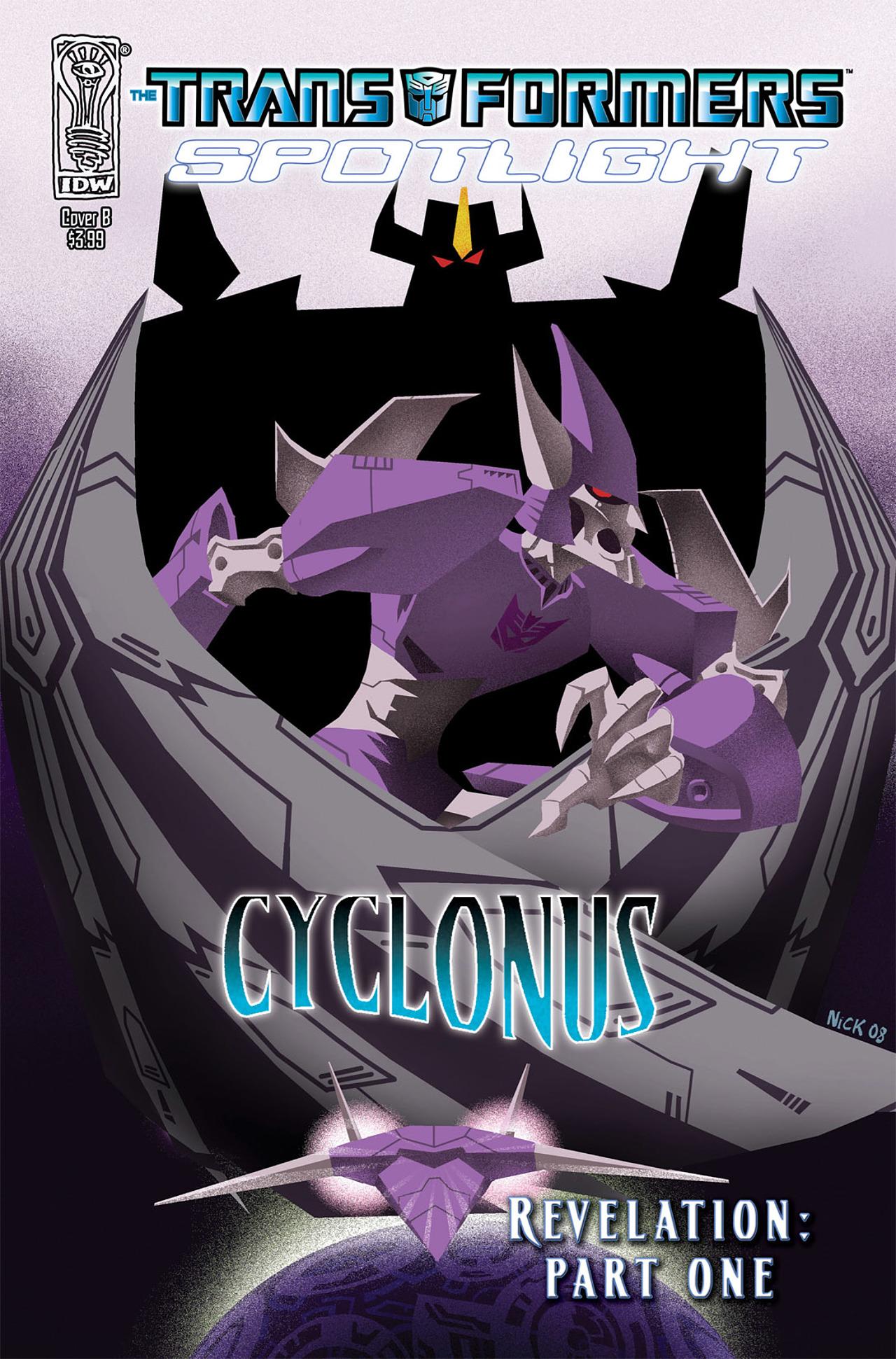 Read online Transformers Spotlight: Cyclonus comic -  Issue # Full - 2