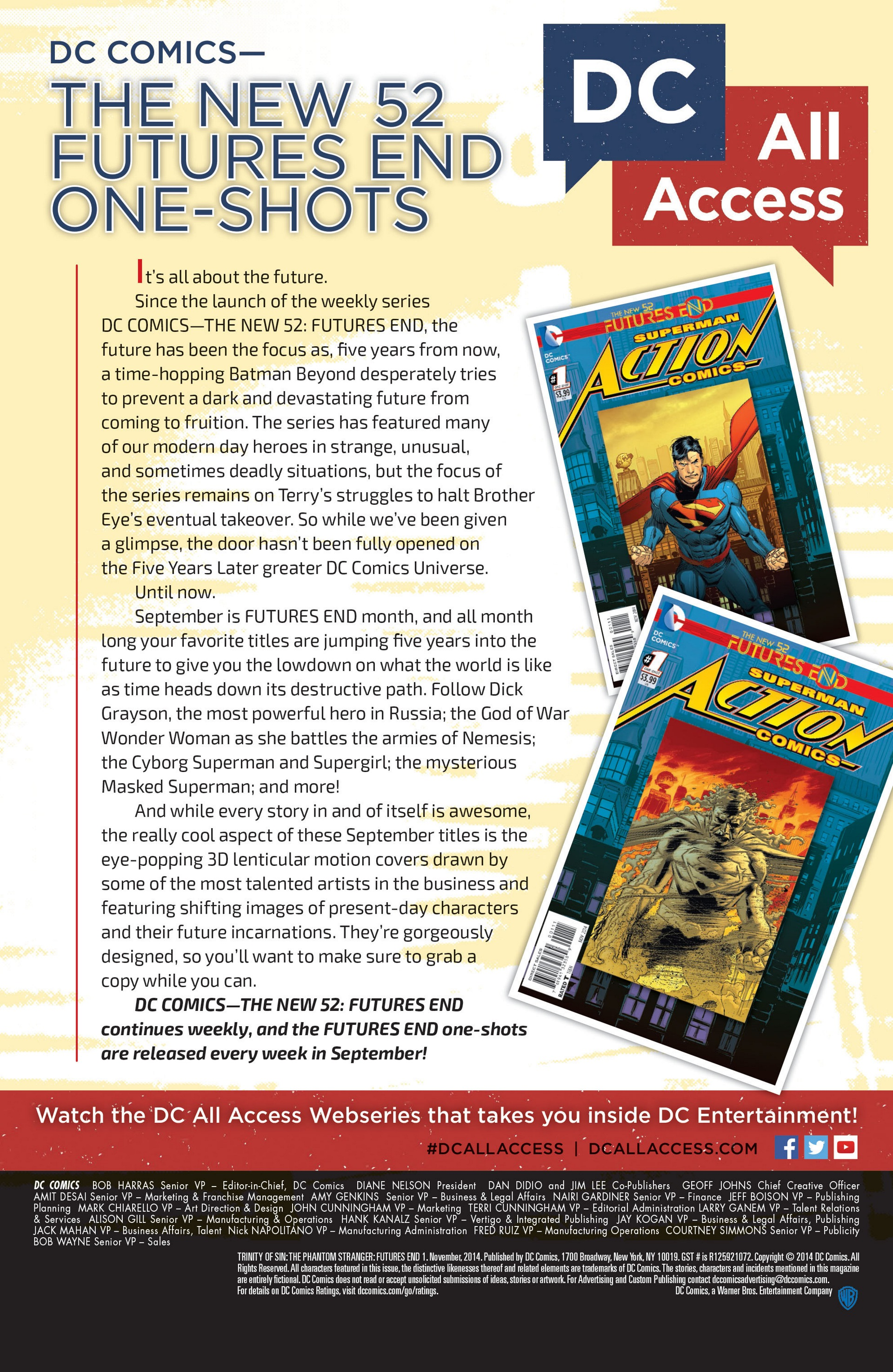 Read online Trinity of Sin: The Phantom Stranger: Futures End comic -  Issue # Full - 23