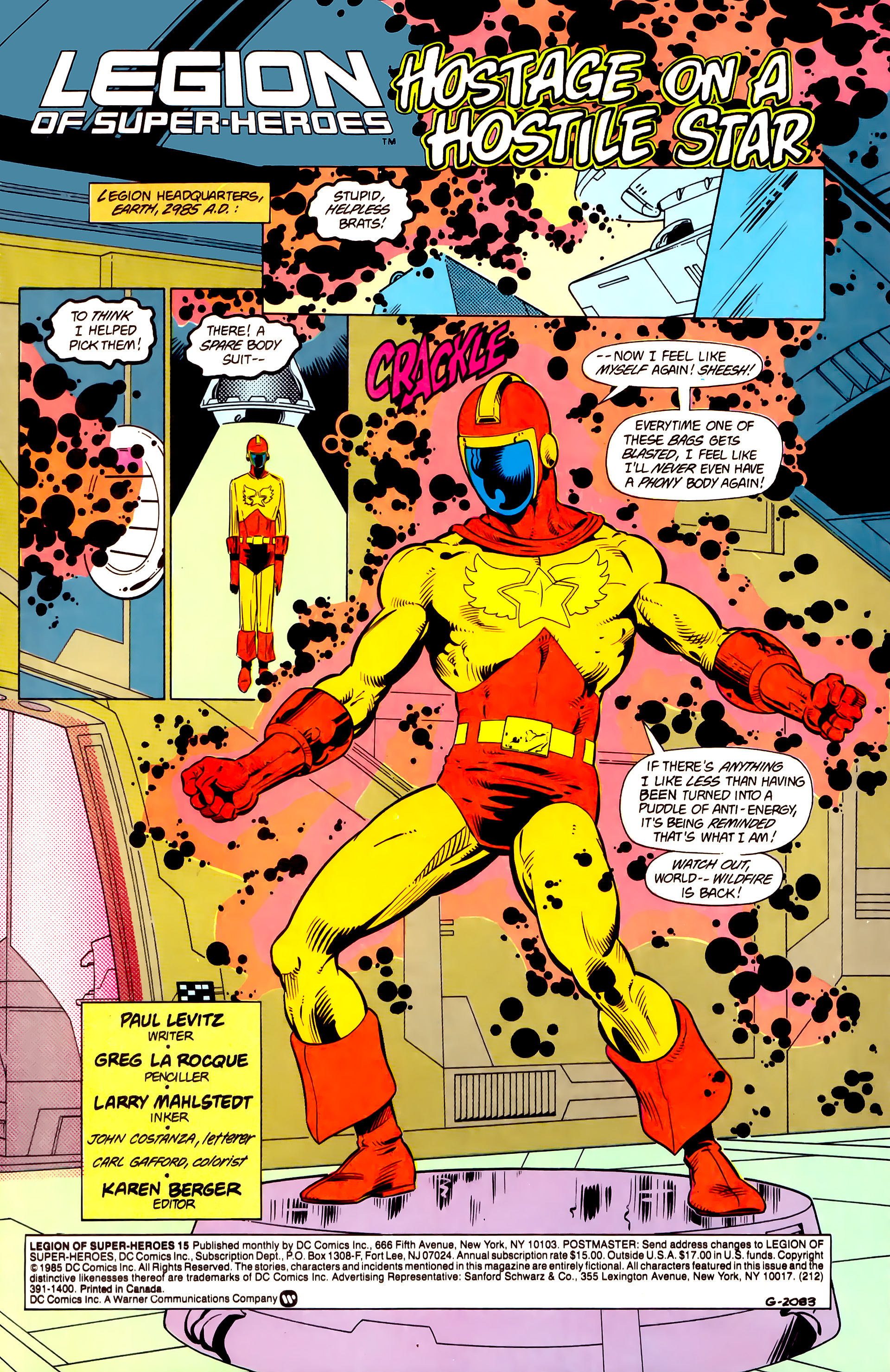 Legion of Super-Heroes (1984) 15 Page 2
