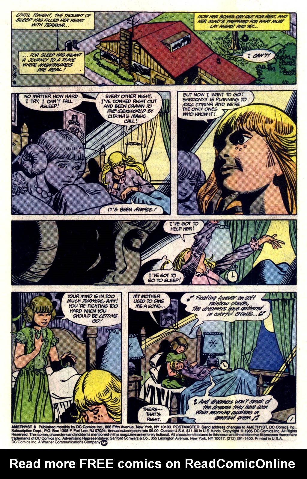 Read online Amethyst (1985) comic -  Issue #6 - 2