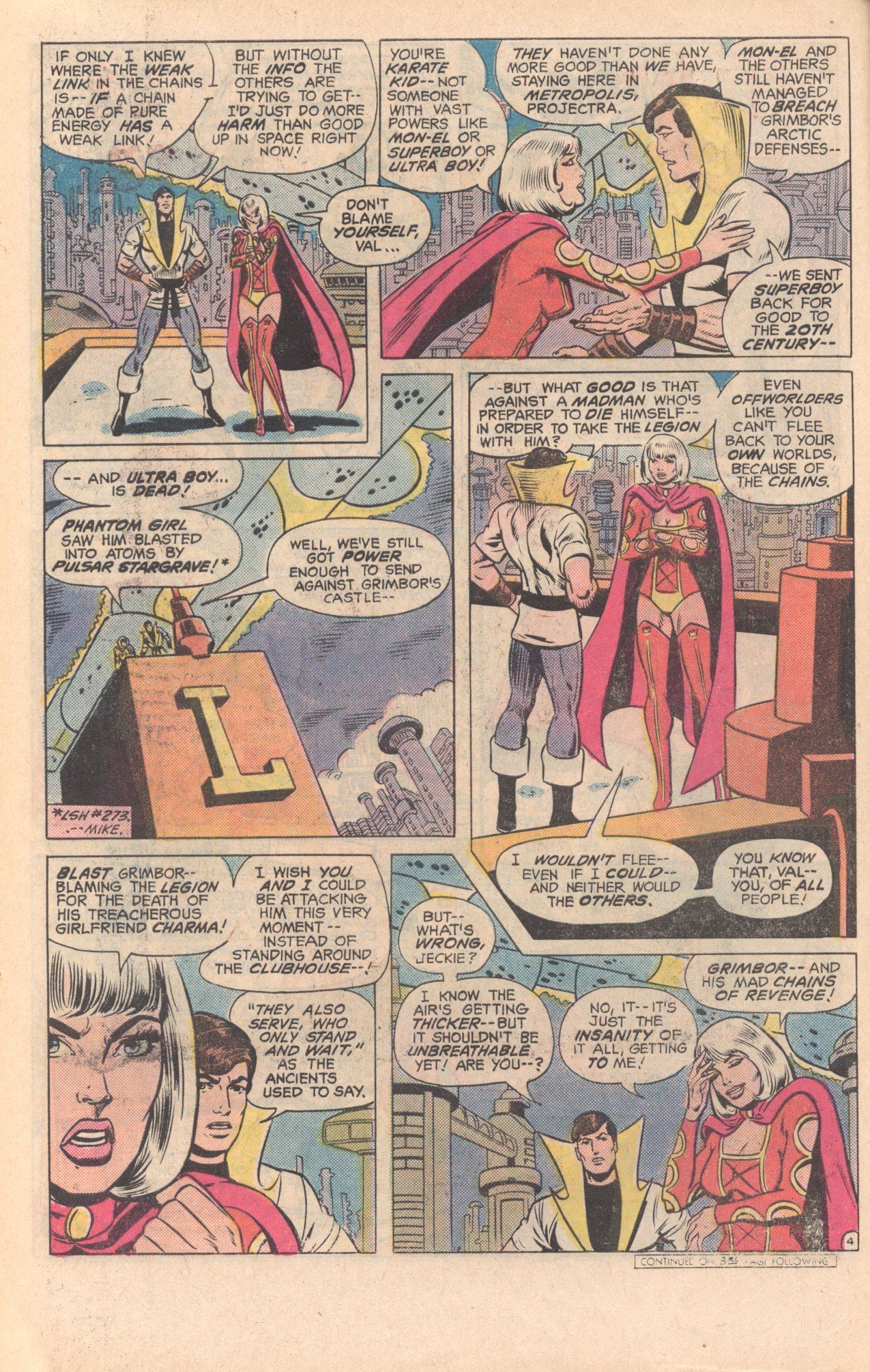Legion of Super-Heroes (1980) 279 Page 4
