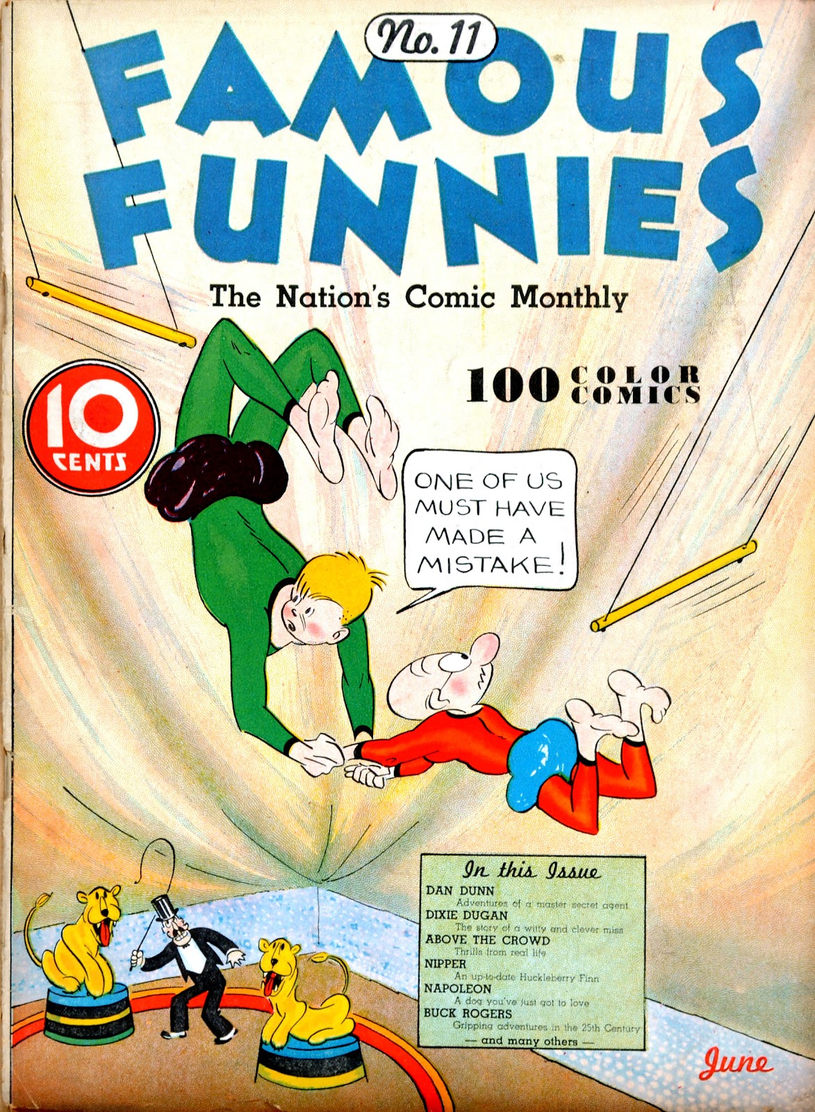 Read online Famous Funnies comic -  Issue #11 - 1