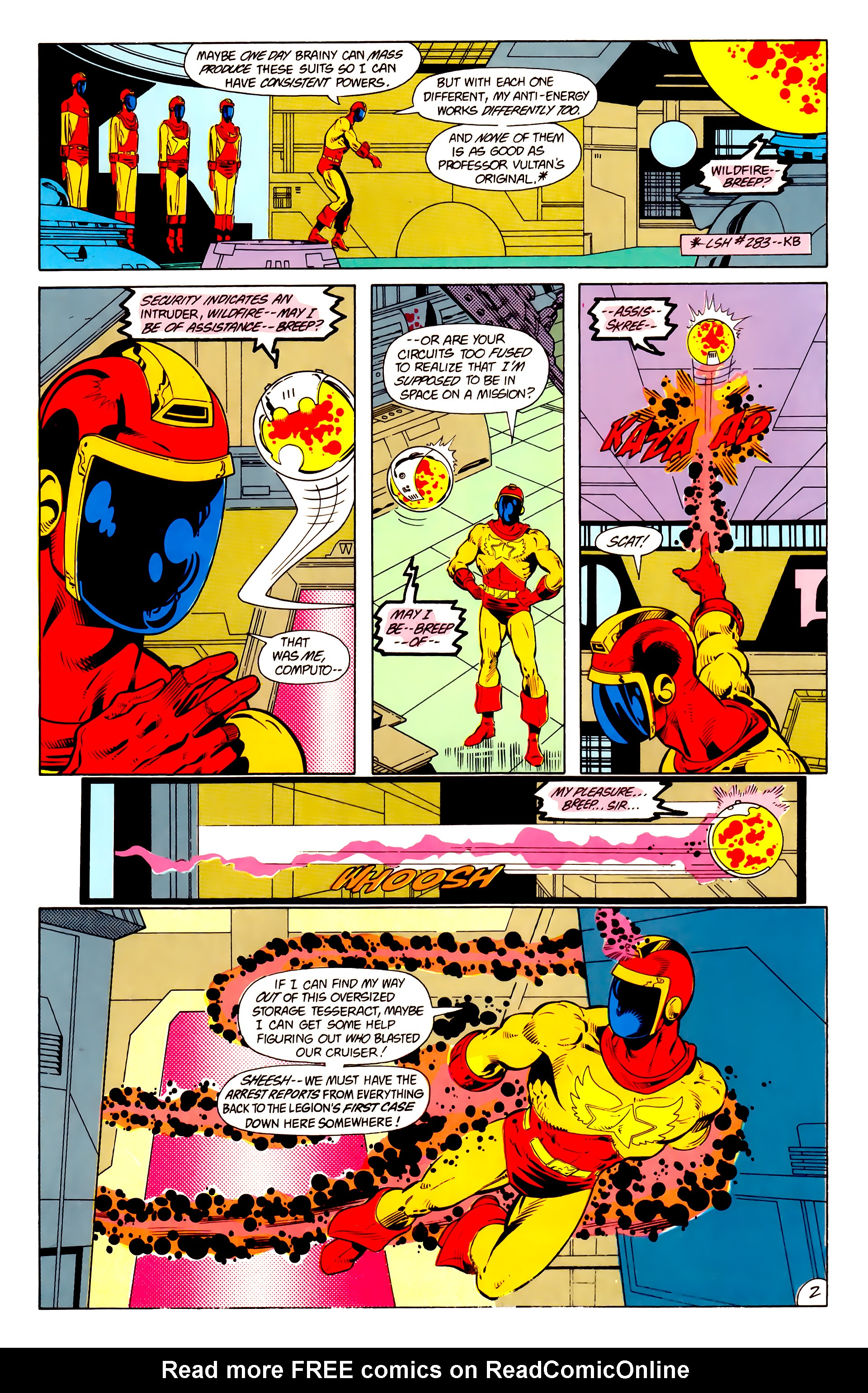 Legion of Super-Heroes (1984) 15 Page 3