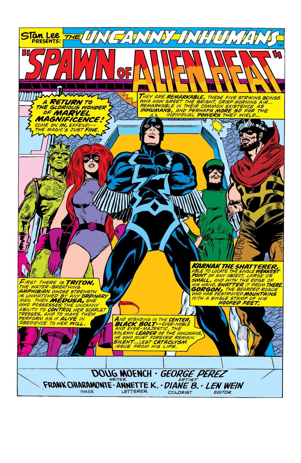 Read online Marvel Masterworks: The Inhumans comic -  Issue # TPB 2 (Part 1) - 7