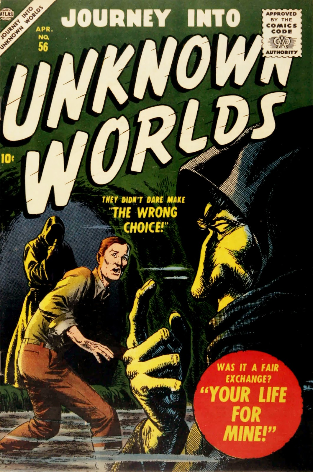 Journey Into Unknown Worlds (1950) issue 56 - Page 1